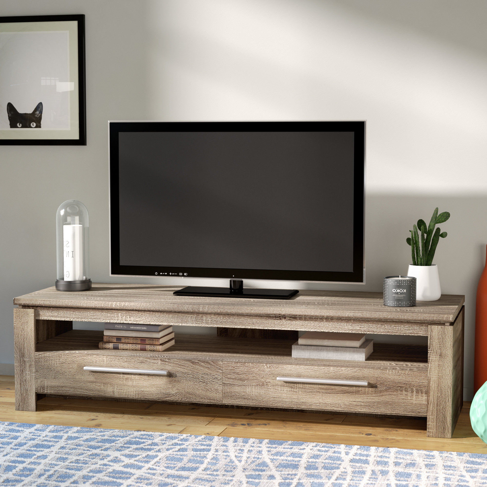Popular 12 Inch Deep Tv Stand Mercury Row Rorie For Tvs Up To 46 Wayfair Throughout Sinclair Blue 64 Inch Tv Stands (View 16 of 20)