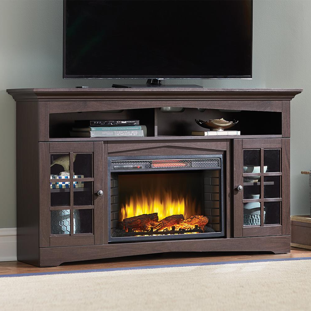 Popular 50 Inch Fireplace Tv Stands Intended For Fireplace Tv Stands – Electric Fireplaces – The Home Depot (View 13 of 20)