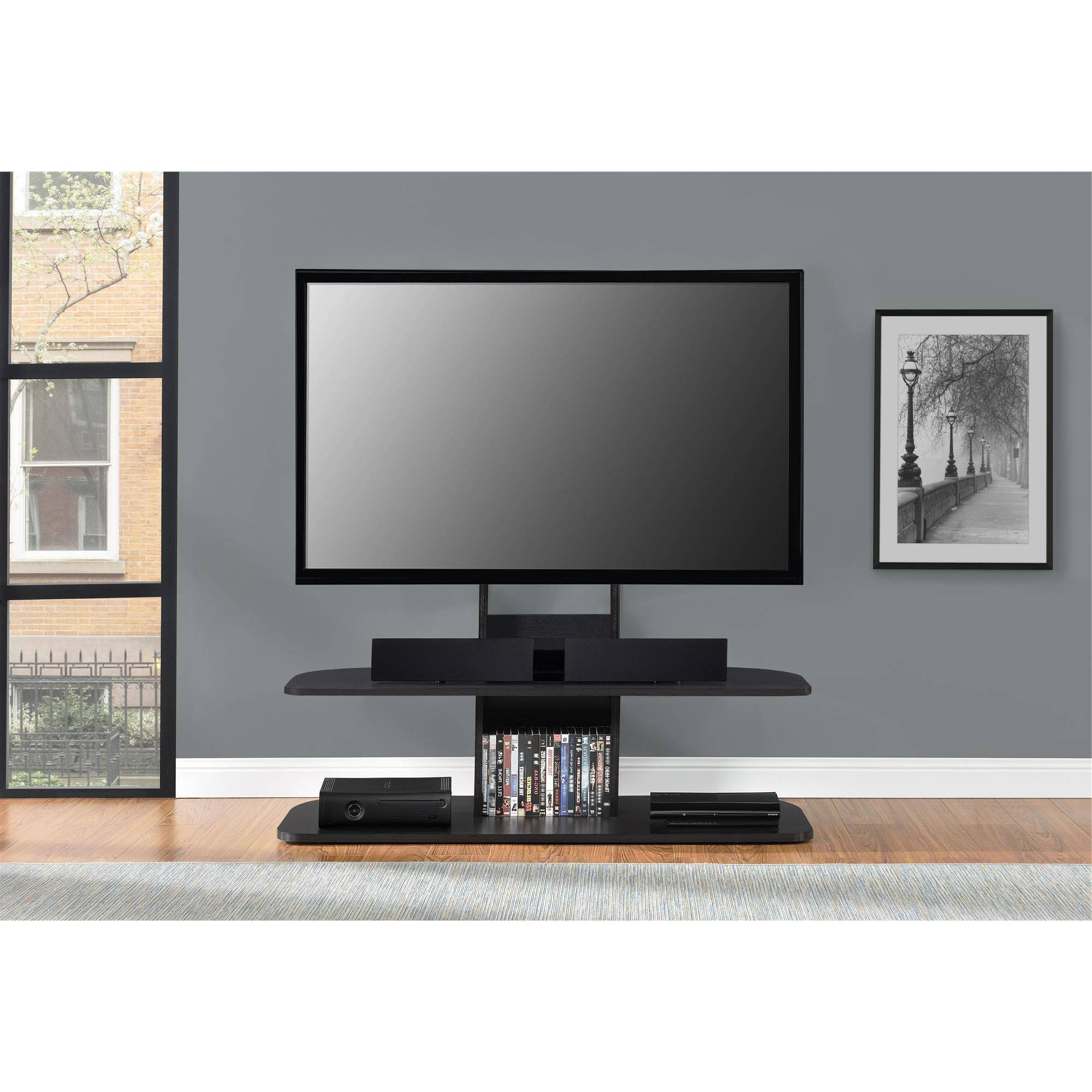 "Popular Ameriwood Home Galaxy Tv Stand With Mount For Tvs Up To 65"" Wide Pertaining To Tv Stands For 43 Inch Tv (Gallery 14 of 20)"