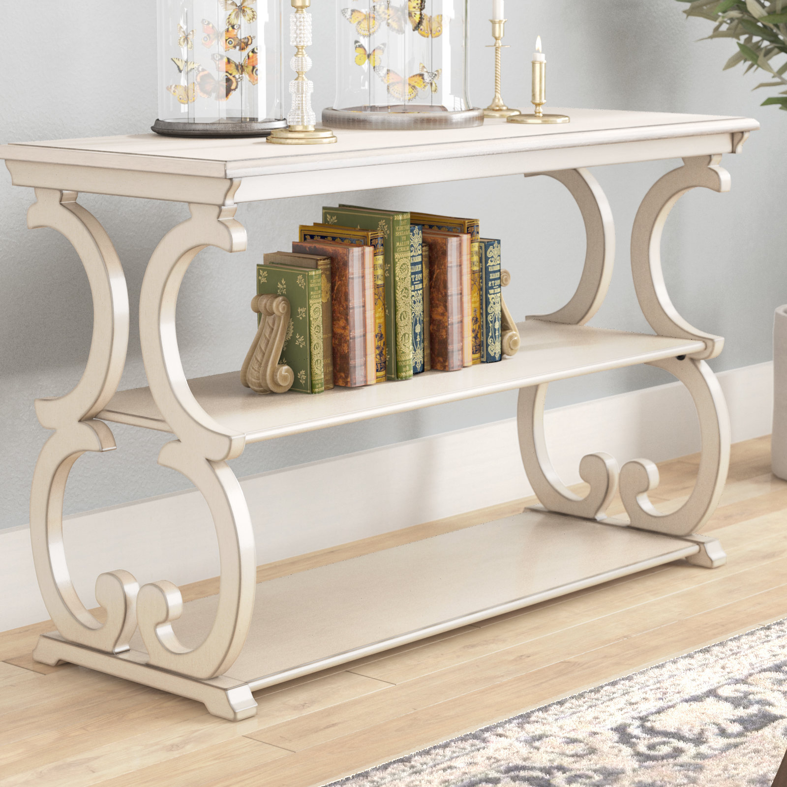 Popular Antique White Distressed Console Tables Pertaining To Antique White Console Table (View 12 of 20)