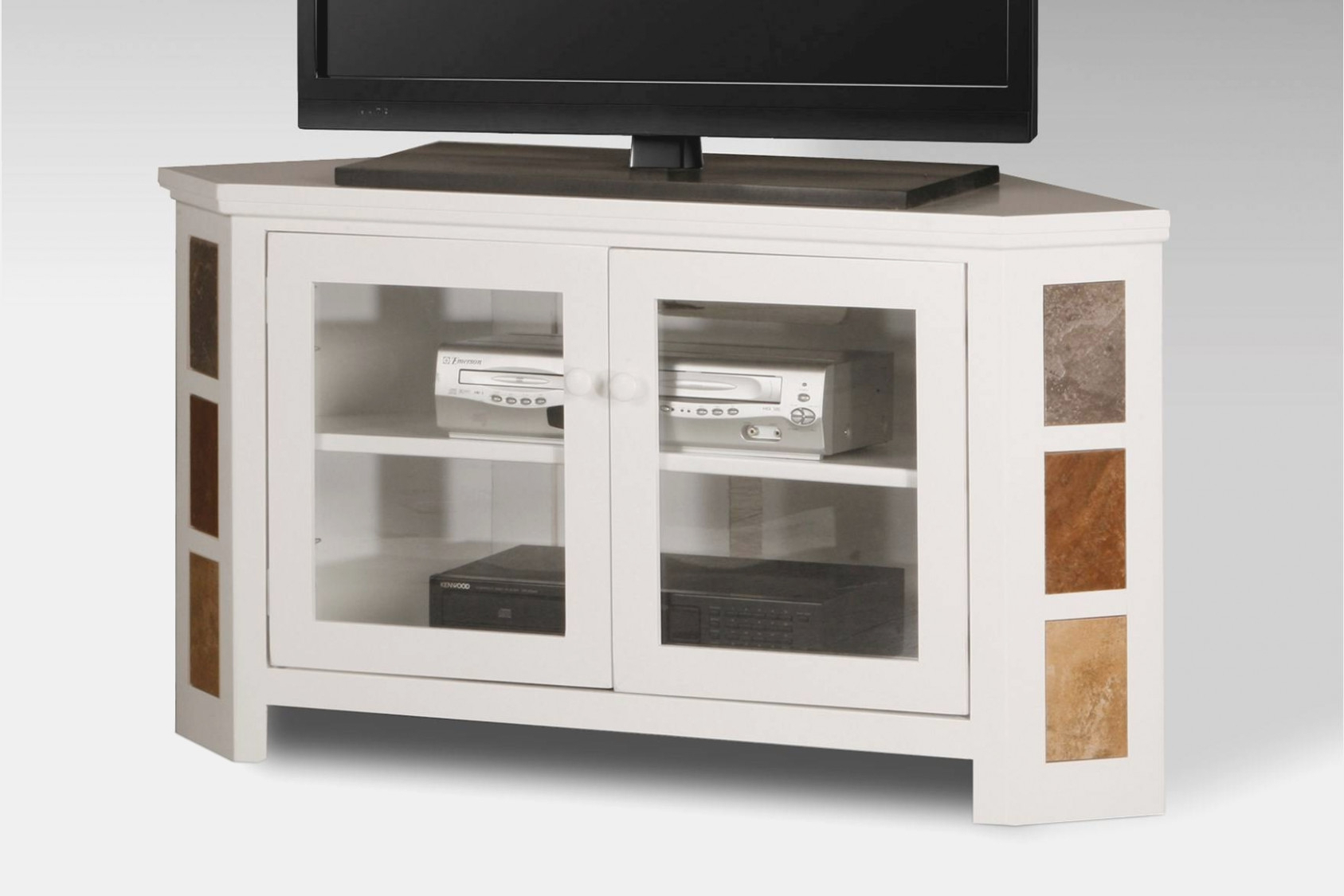 Popular Black Corner Tv Cabinets With Glass Doors With Regard To Corner Tv Cabinet Glass Doors Techlink Bench Piano Black Stand With (View 5 of 20)