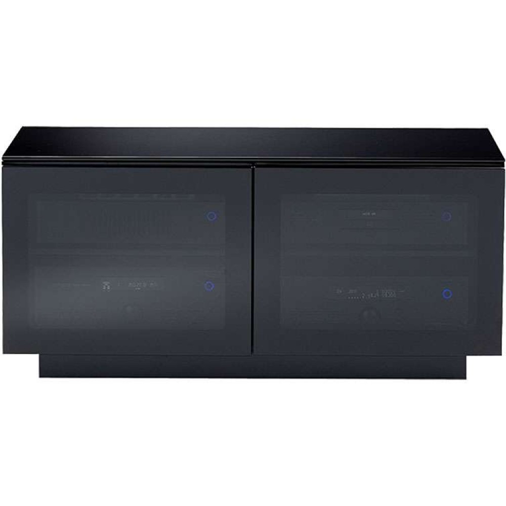 Popular Black Glass Tv Cabinets Inside High Gloss Corner Media Stand Wide Storage Flat Screen (View 5 of 20)