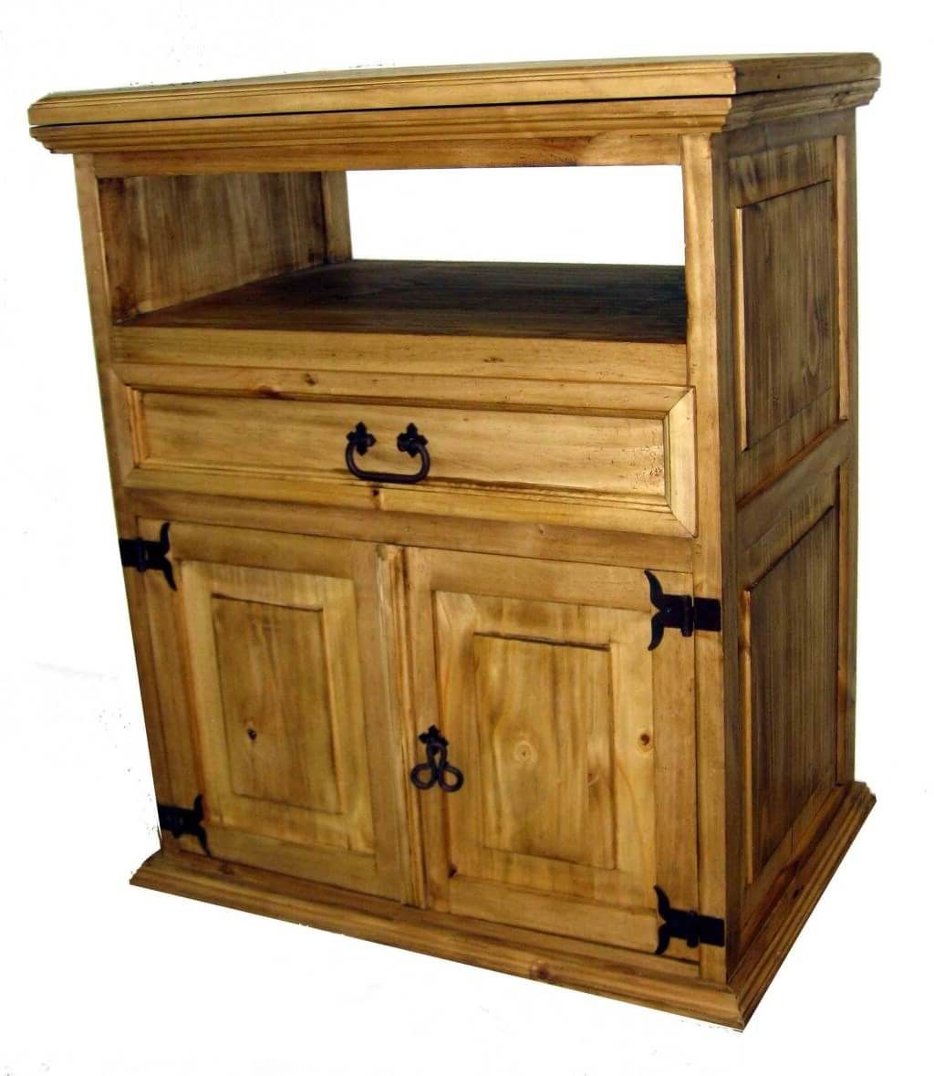 Popular Cheap Rustic Tv Stands Intended For Furniture: Classic Cheap Rustic Tv Stand Featuring Double Door (View 14 of 20)