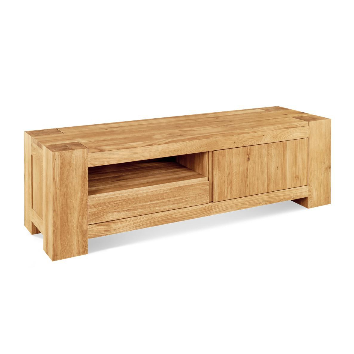 Popular Chunky Tv Cabinets In Jumbo Solid Oak Chunky Tv Unit (View 11 of 20)