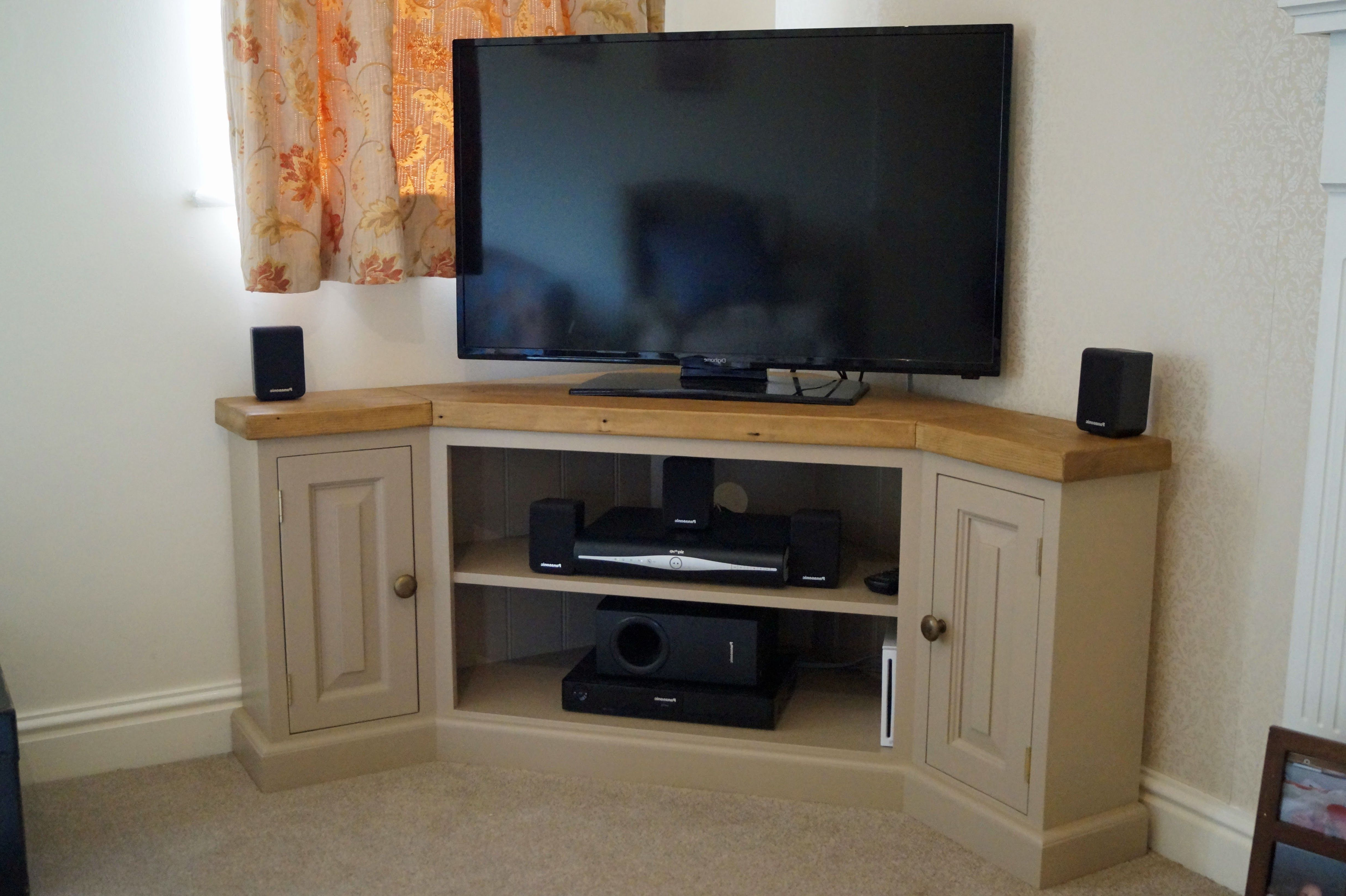 Popular Cornet Tv Stands Pertaining To Reclaimed Edwardian Corner Tv Unit. Bespoke Corner Tv Unit! (Gallery 15 of 20)