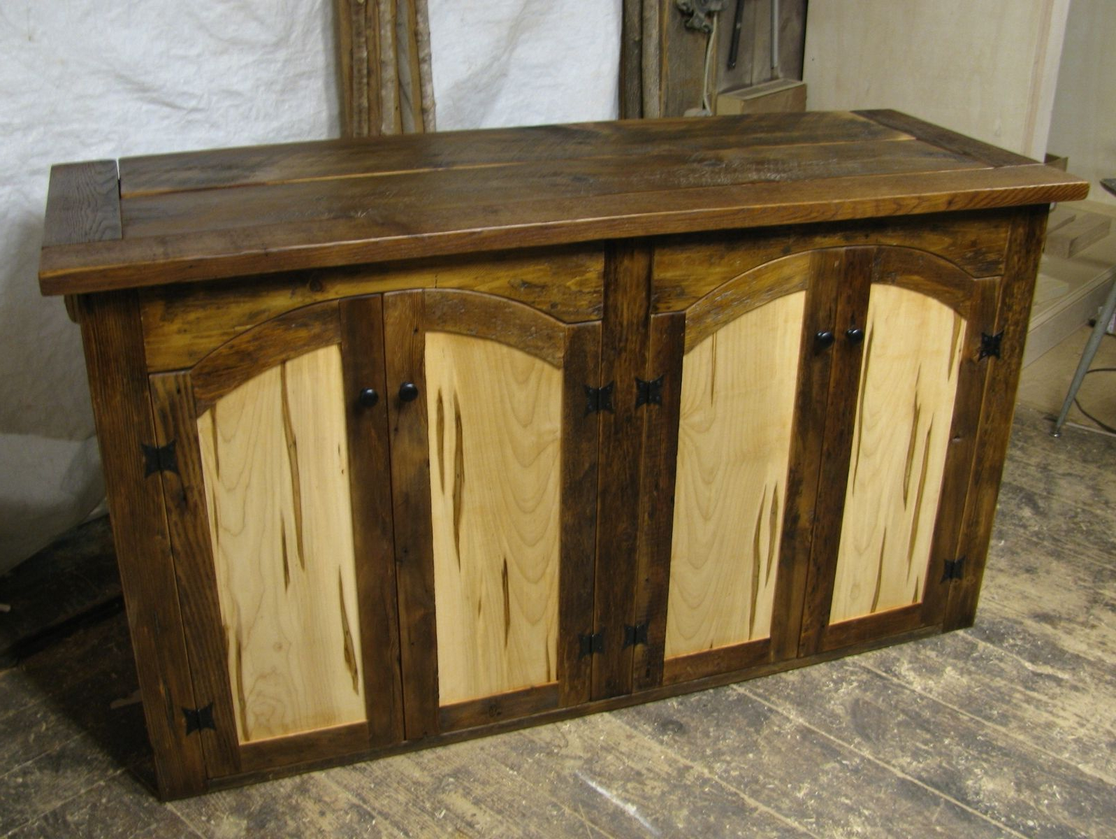 Popular Hand Made Rustic Tv Lift Cabinet With Spaulted Maple Doorscustom Throughout Maple Tv Cabinets (Gallery 16 of 20)
