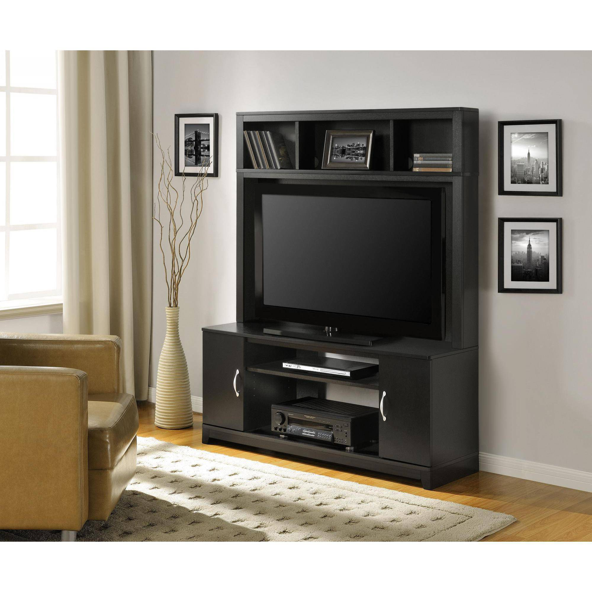 Popular Home Entertainment Center Wood Storage Cabinet Tv Stand Console Within Entertainment Center Tv Stands (Gallery 1 of 20)