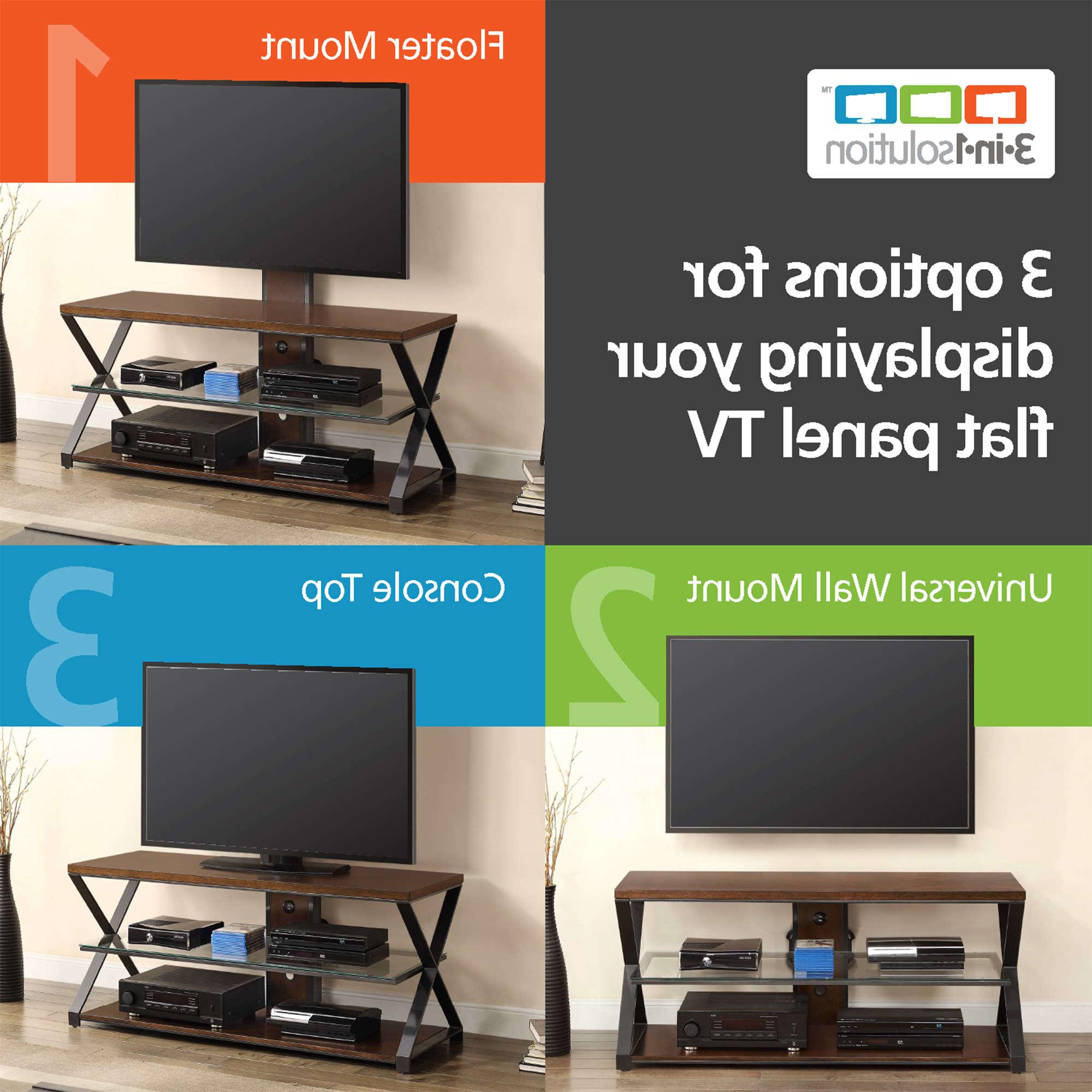 """Popular Jaxon 71 Inch Tv Stands Regarding Jaxon 3 In 1 Cognac Tv Stand For Tvs Up To 70"""" – Walmart (Gallery 8 of 20)"""