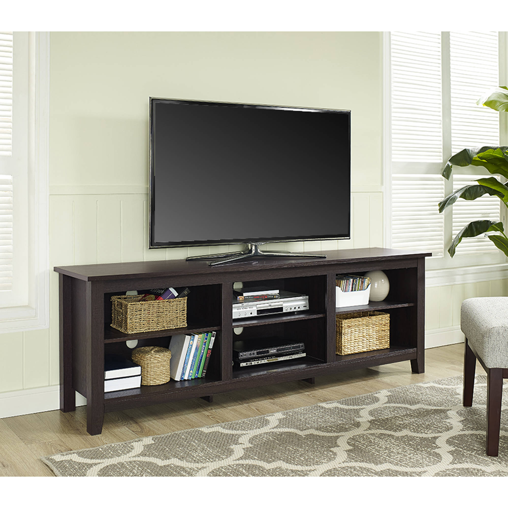 Popular Mainstays Payton View Tv Stand With 2 Bins For Tvs Up To 60 Within Tv Stands For Large Tvs (Gallery 2 of 20)