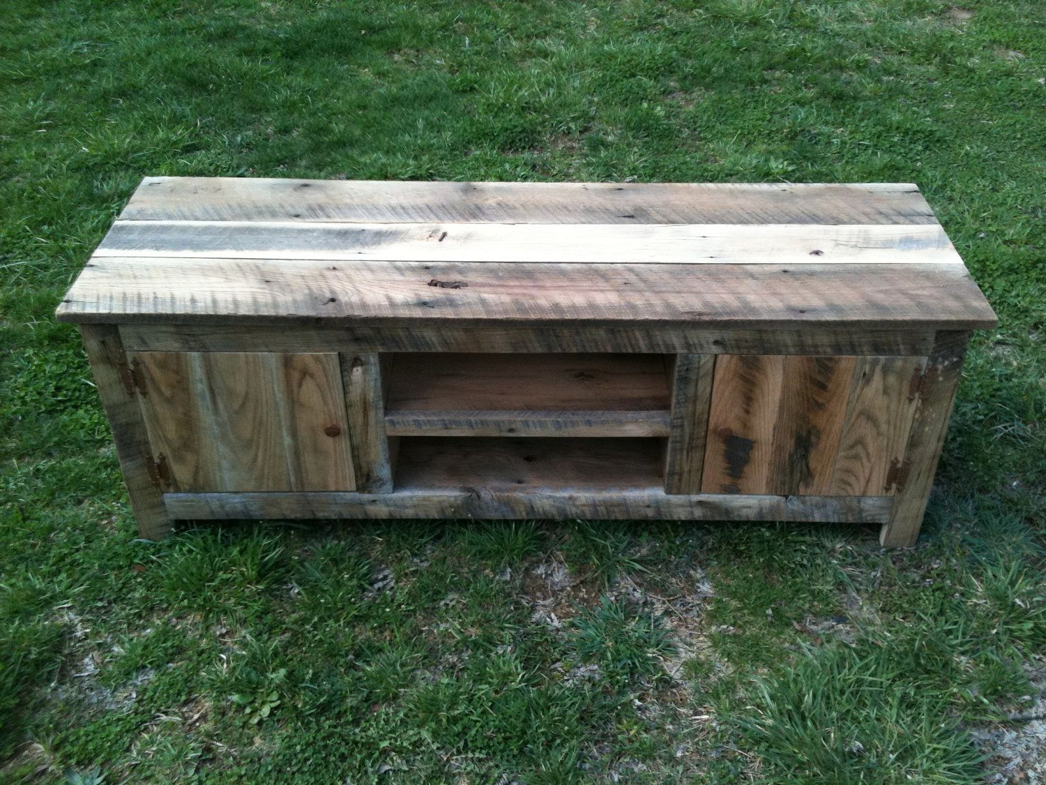 Popular Old Barn Wood Tv Stand. Media Stand.made From Reclaimed Wood Throughout Recycled Wood Tv Stands (Gallery 4 of 20)