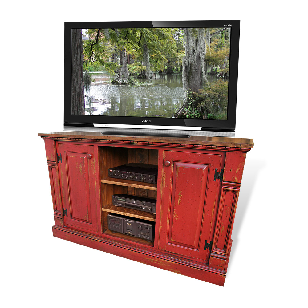 Featured Photo of Rustic Red Tv Stands