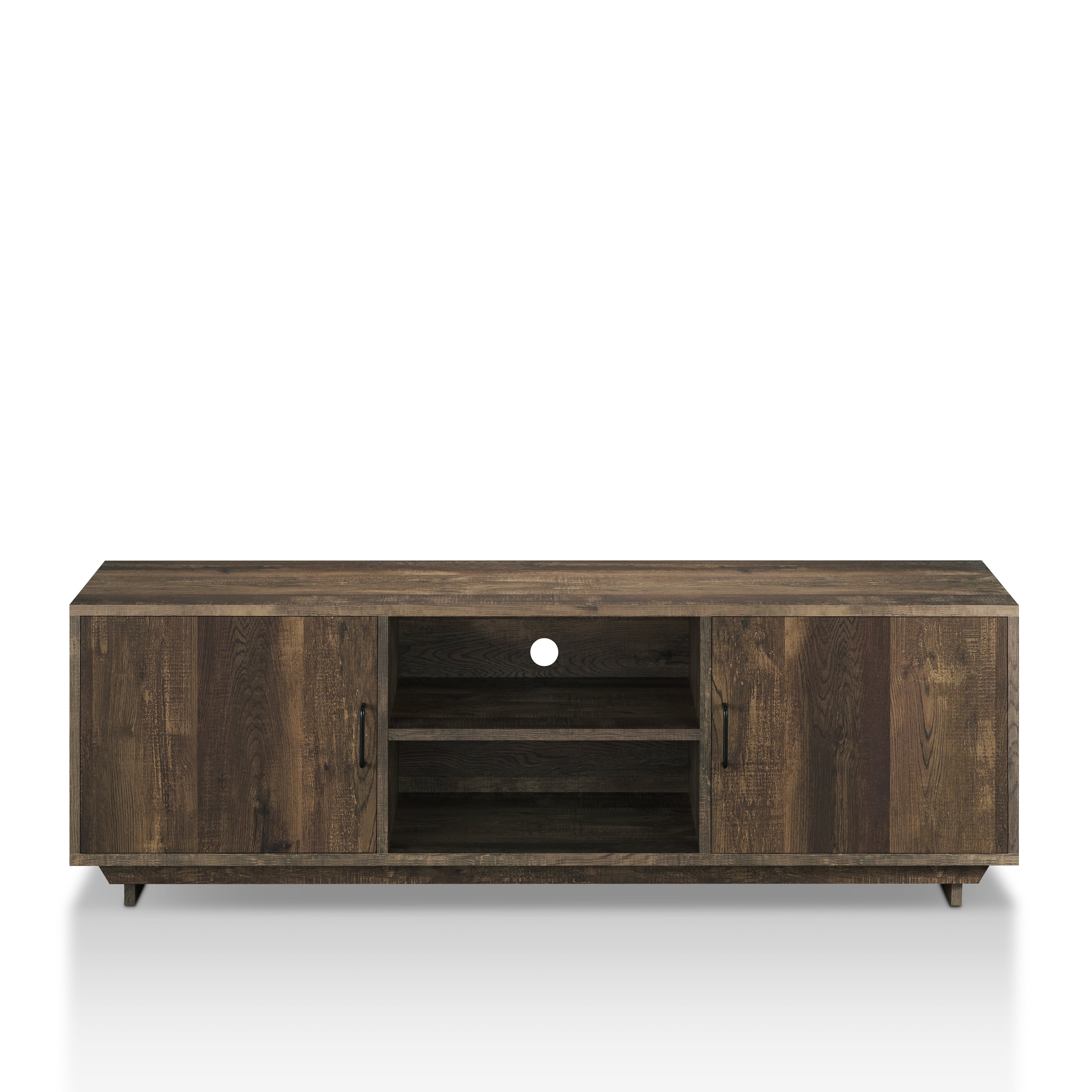 Popular Shop Furniture Of America Mailer Rustic Reclaimed Oak 63 Inch Tv Inside Kai 63 Inch Tv Stands (Gallery 11 of 20)