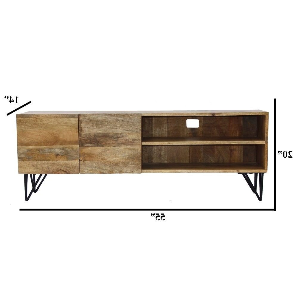 Popular Shop The Urban Port Industrial Style Tv Stand With Storage Cabinet For Industrial Style Tv Stands (View 8 of 20)