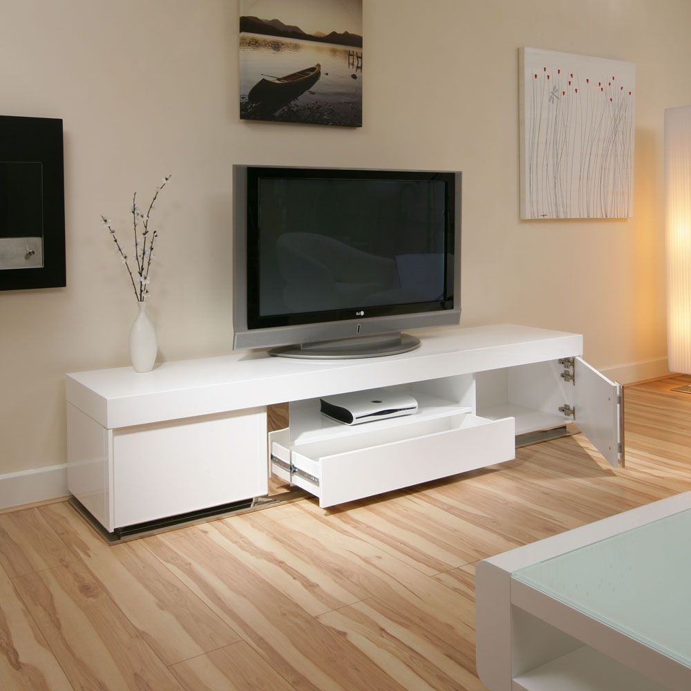 Popular Single Shelf Tv Stands With Regard To West Elm Media Console Modern Floating Tv Stand Designs Furniture (View 11 of 20)