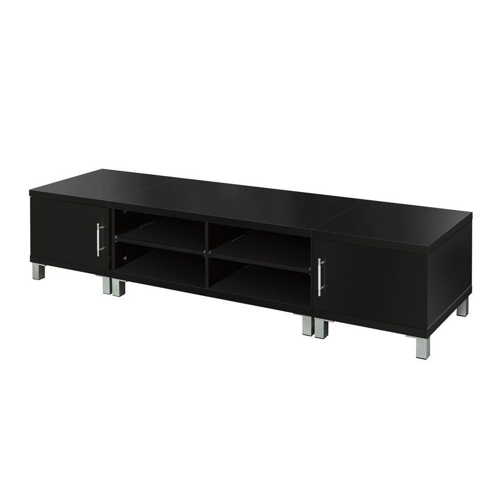 Popular Tv Stand Entertainment Unit Lowline Cabinet Drawer Black In 2019 With Regard To Very Cheap Tv Units (View 3 of 20)