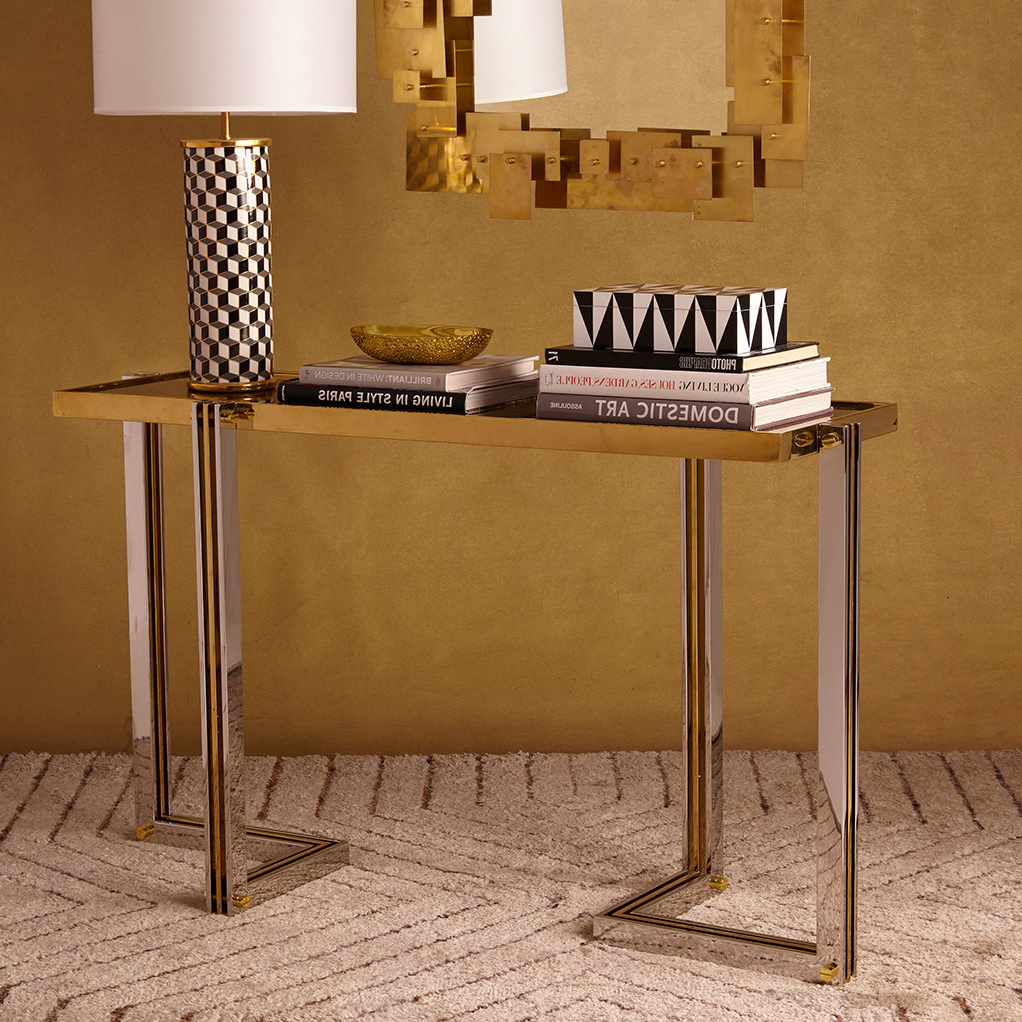 Popular Ventana Display Console Tables Regarding Jonathan Adler Electrum Console Table (View 14 of 20)