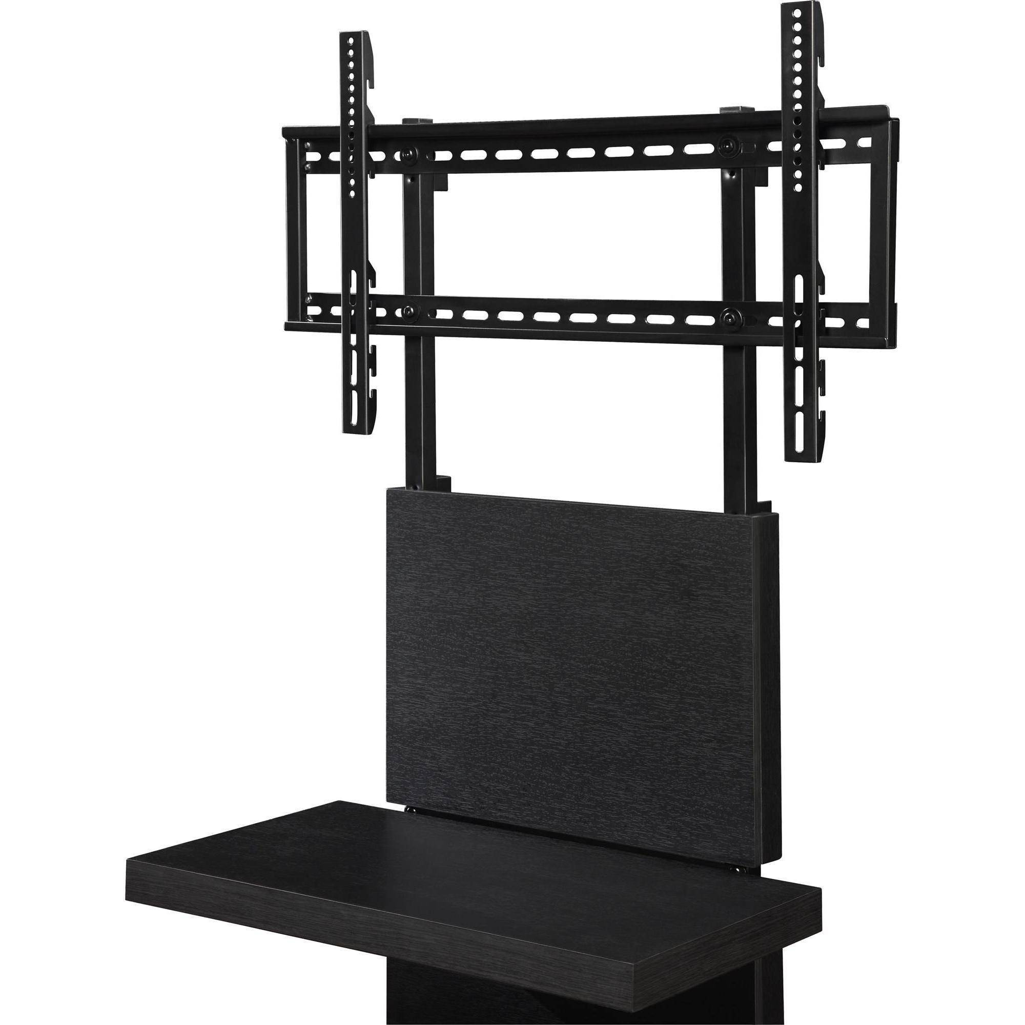 "Popular Wall Mount Tv Stand With 3 Shelves Black For Tvs Up To 60"" (Gallery 8 of 20)"