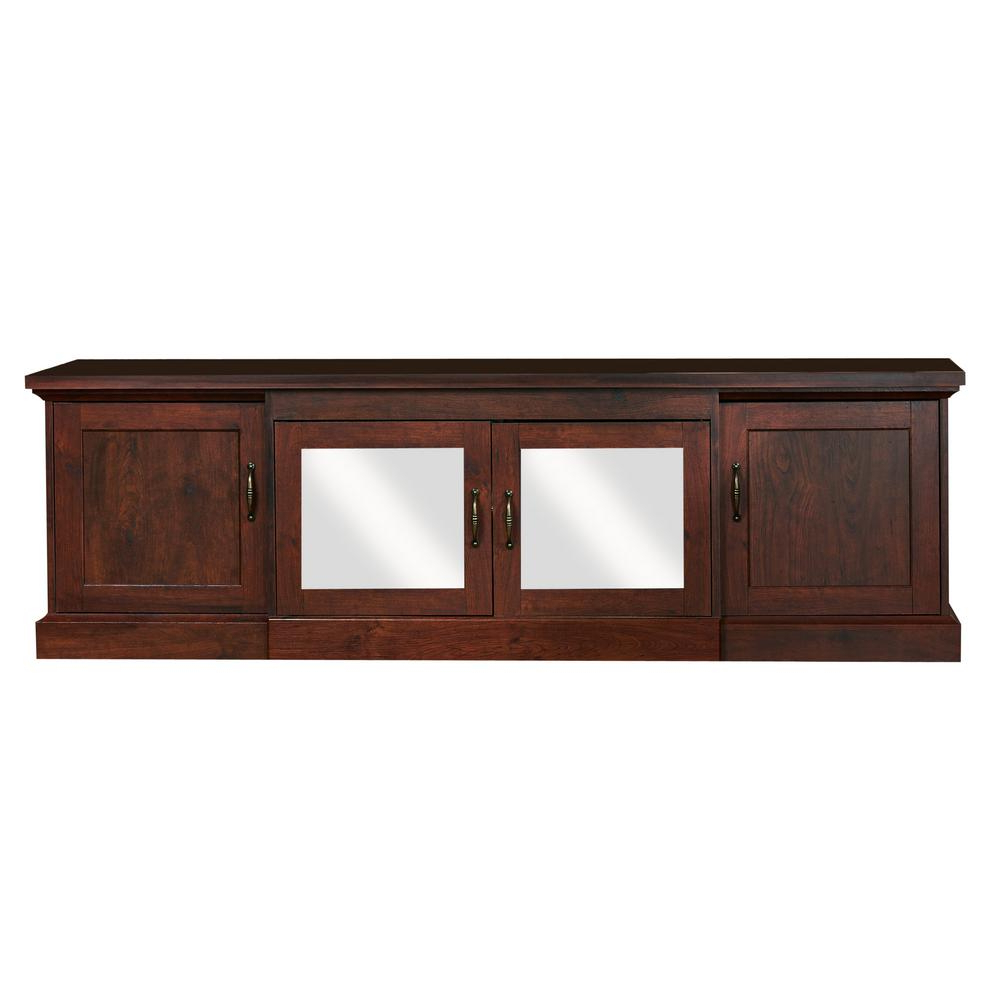 Popular Walnut Tv Cabinets With Doors Within Furniture Of America Daleni Vintage Walnut Tv Stand Ynj 1451 6 – The (View 11 of 20)