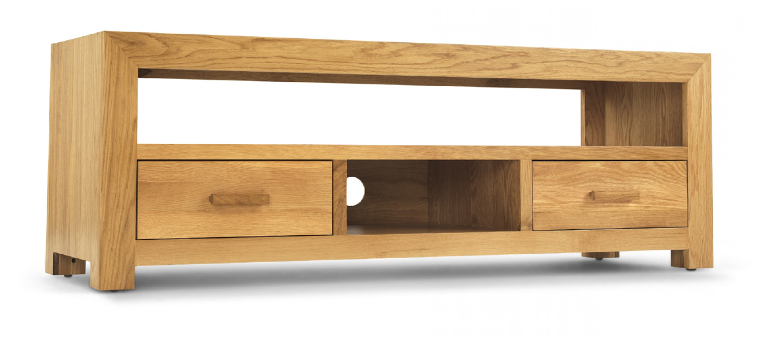 Popular Wide Oak Tv Units Throughout Cube Oak Plasma Tv Unit (View 13 of 20)