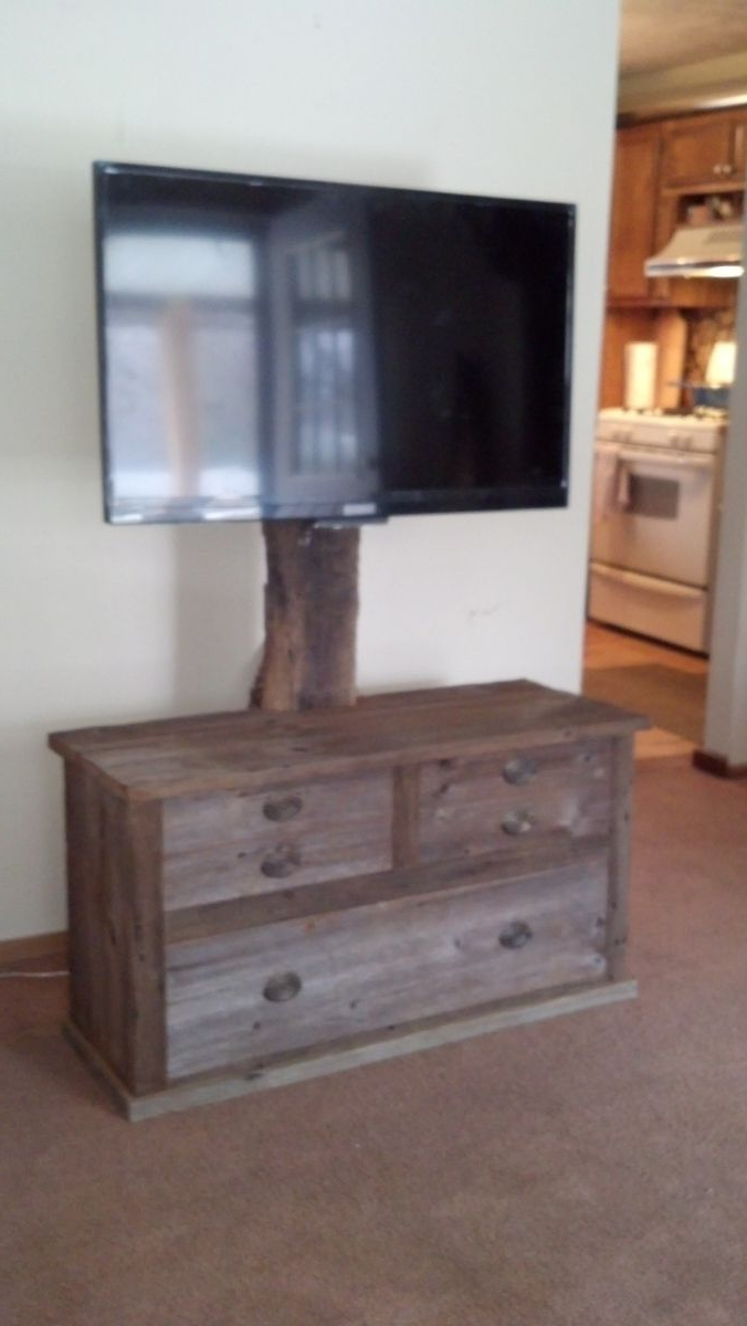 Popular Wood Tv Armoire Stands Regarding Hand Crafted Barn Wood Tv Standrats Wood Creations (Gallery 1 of 20)
