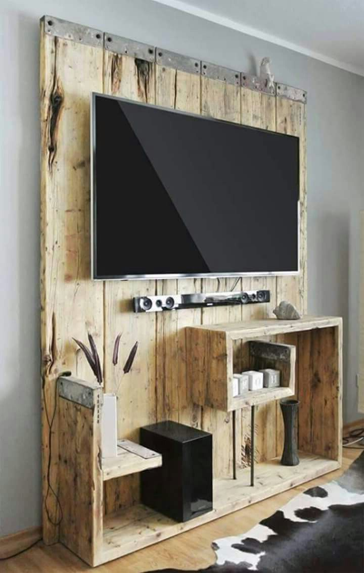 Popular Wooden Tv Stands With Doors For 17 Diy Entertainment Center Ideas And Designs For Your New Home (View 14 of 20)