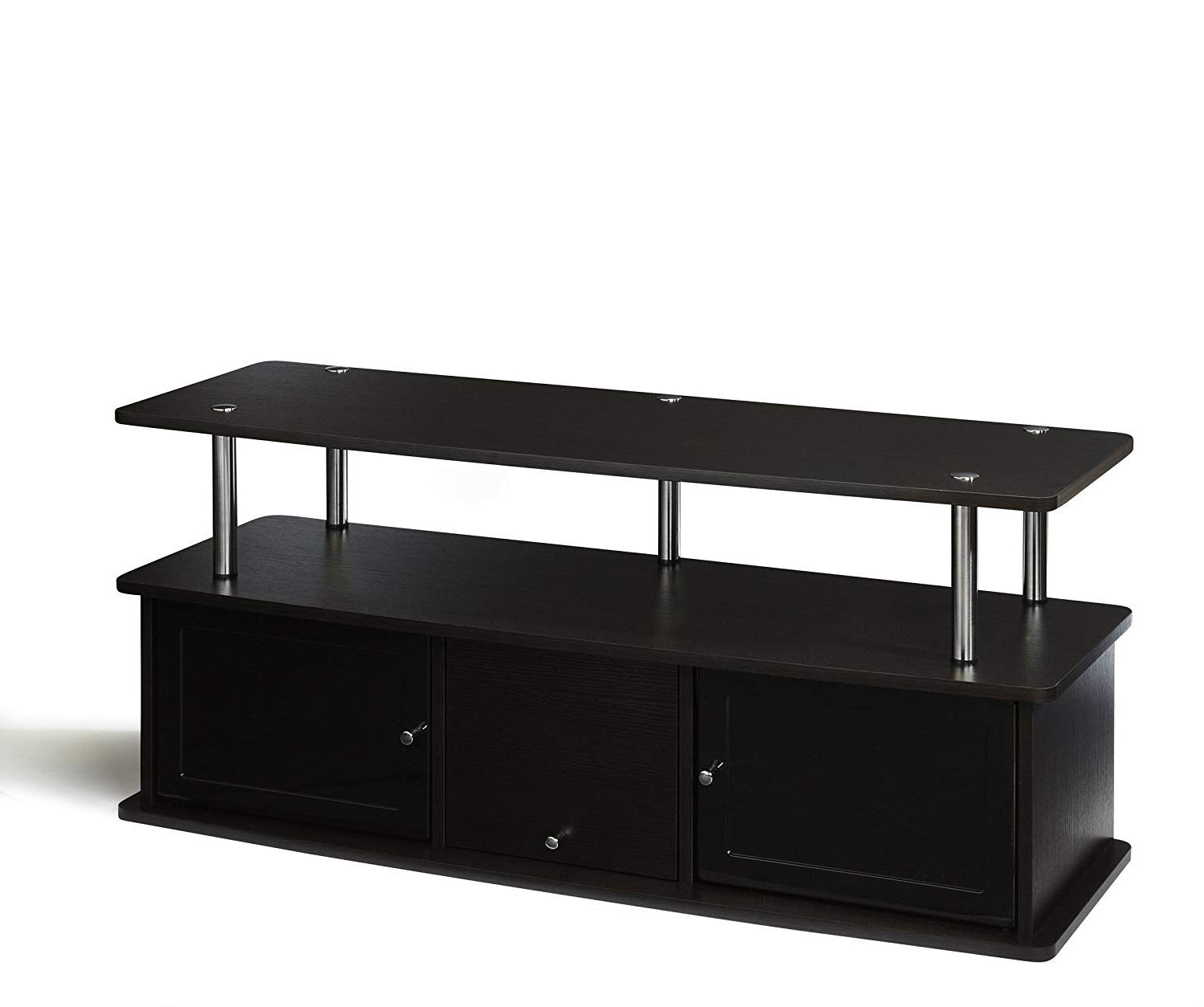 Preferred Amazon: Convenience Concepts Designs2go Tv Stand With 3 Cabinets Intended For Led Tv Cabinets (View 14 of 20)