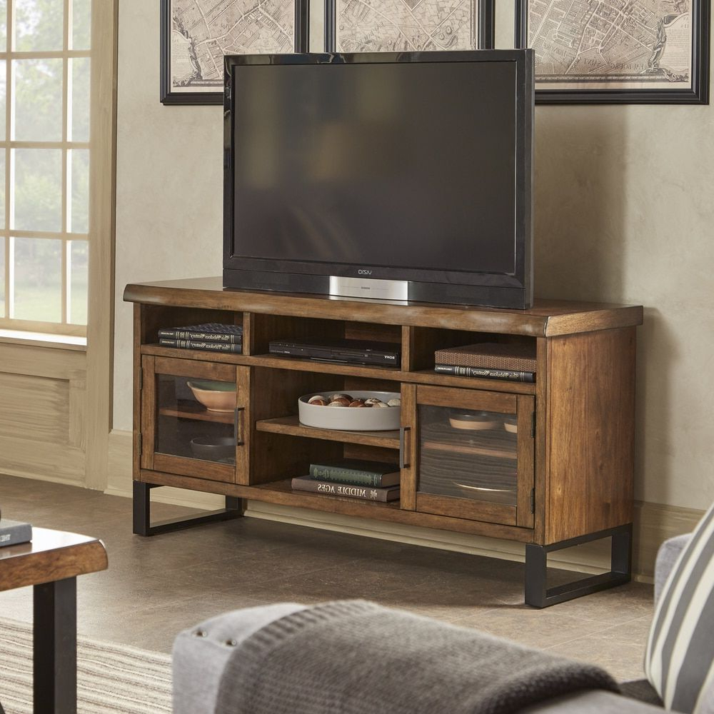 Preferred Banyan Live Edge Wood And Metal Tv Stand Media Consolesignal Throughout Wood And Metal Tv Stands (View 6 of 20)