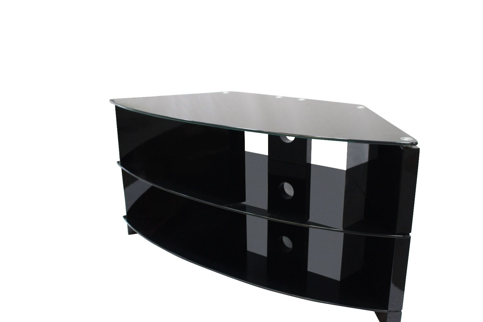 Preferred Black Corner Tv Cabinets Within Black Glass Corner Tv Stand Uk,buy Media Corner Unit Online (Gallery 14 of 20)