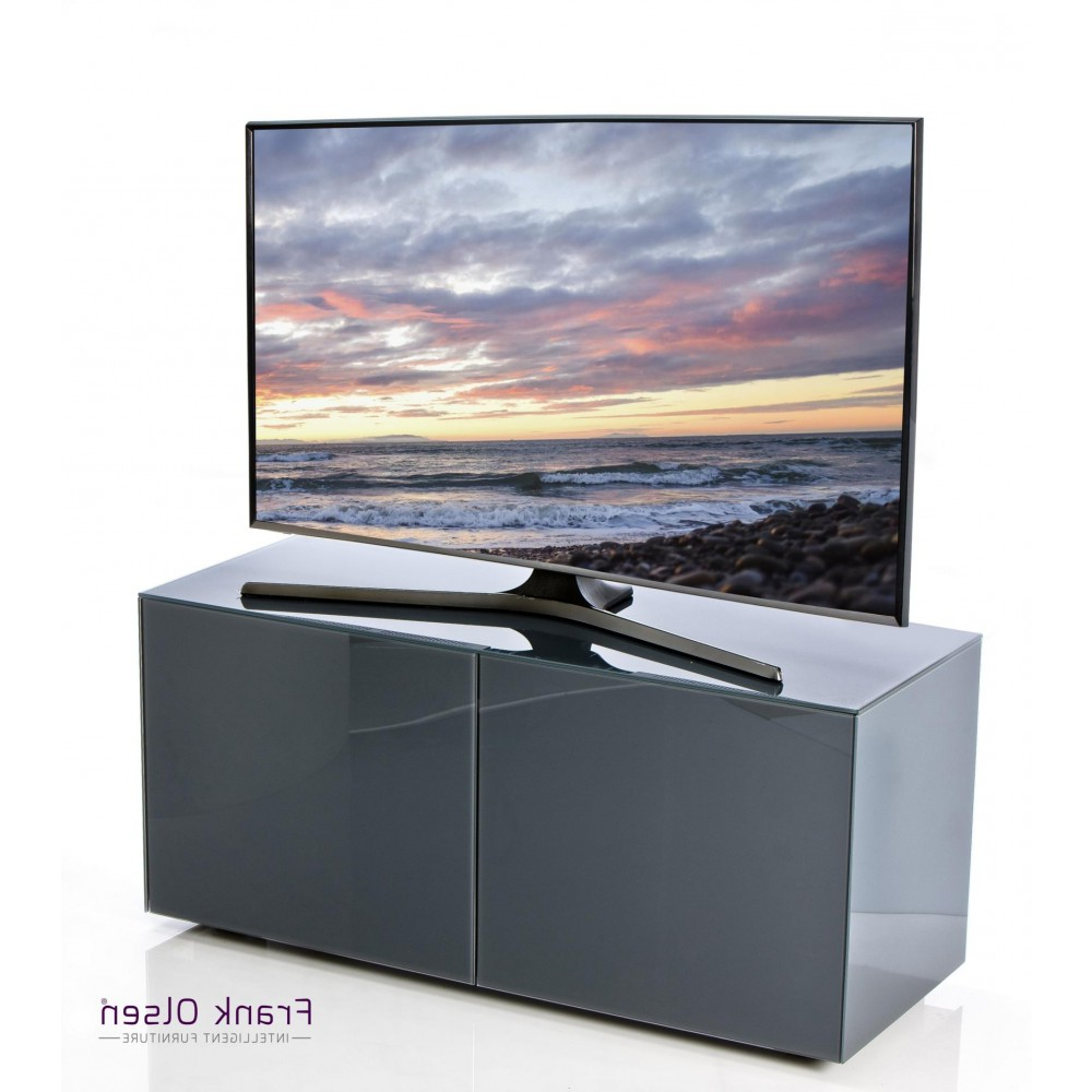 Preferred Black Gloss Corner Tv Stand For Frank Olsen Intel1100Gry High Gloss Grey 1100 Tv Unit Cabinet (View 18 of 20)