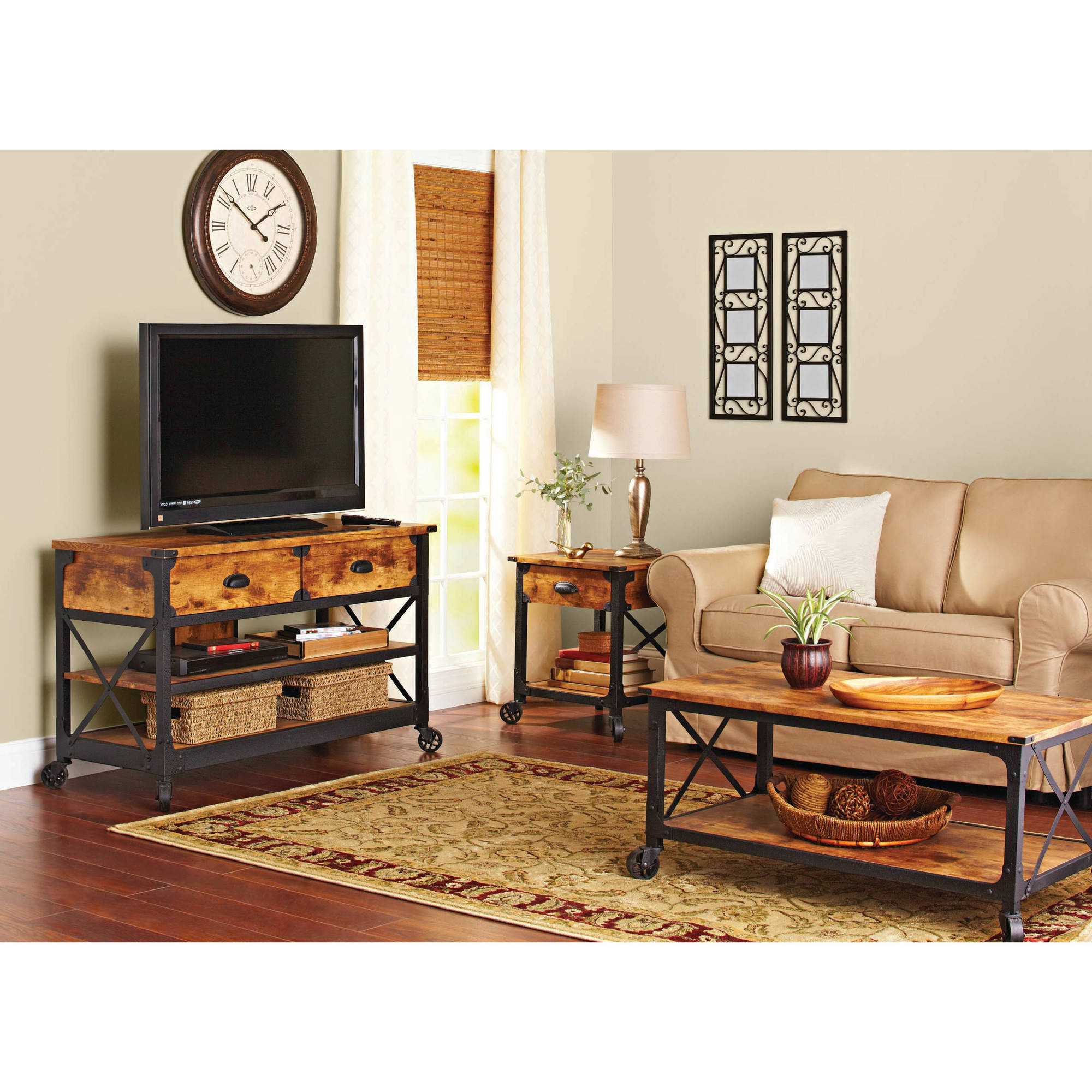 Preferred Coffee Tables And Tv Stands Matching With Regard To Better Homes & Gardens Rustic Country Tv Stand For Tvs Up To (View 14 of 20)