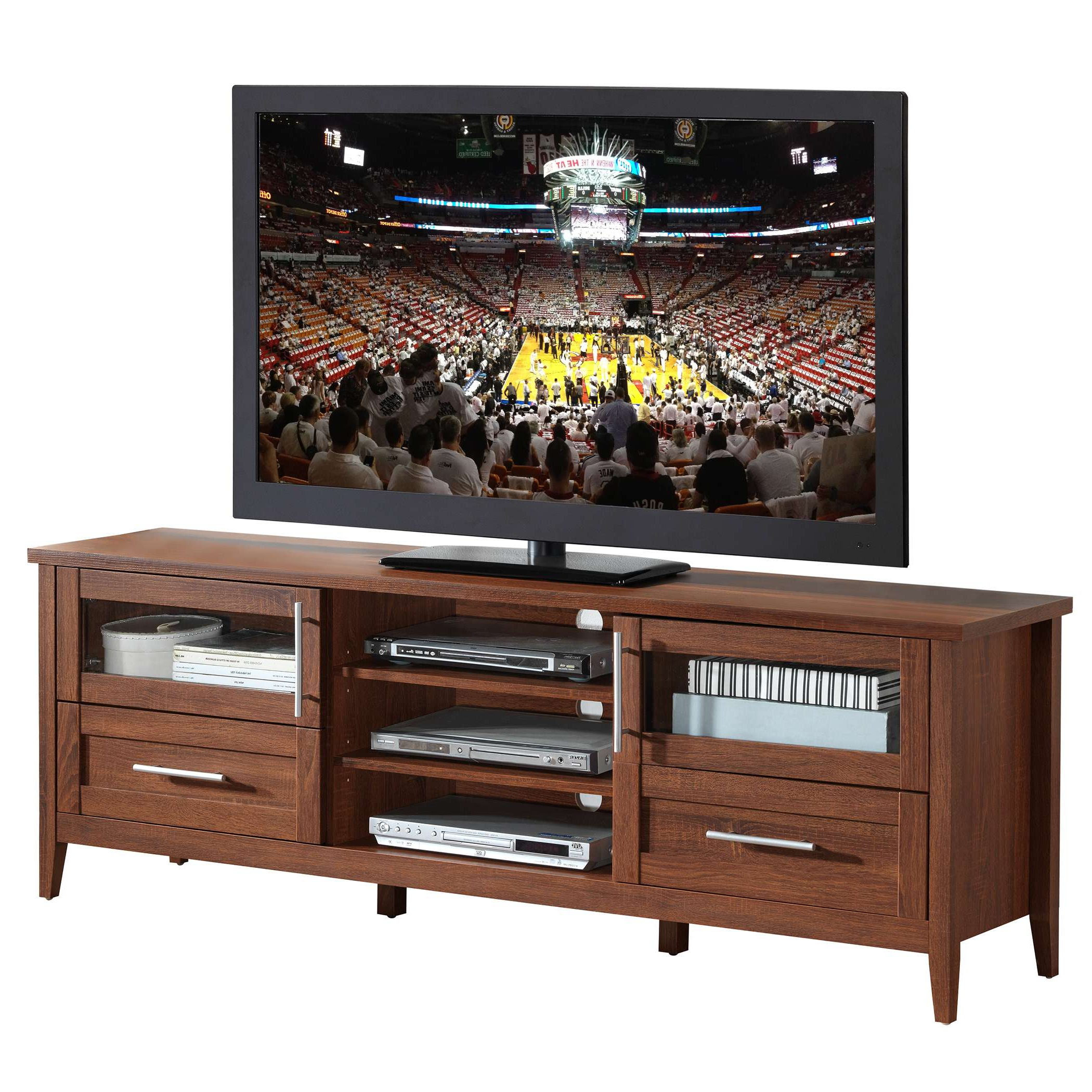 Preferred Contemporary Oak Tv Stands Pertaining To Techni Mobili Modern Oak Tv Stand With Storage For Tvs Up To  (View 13 of 20)