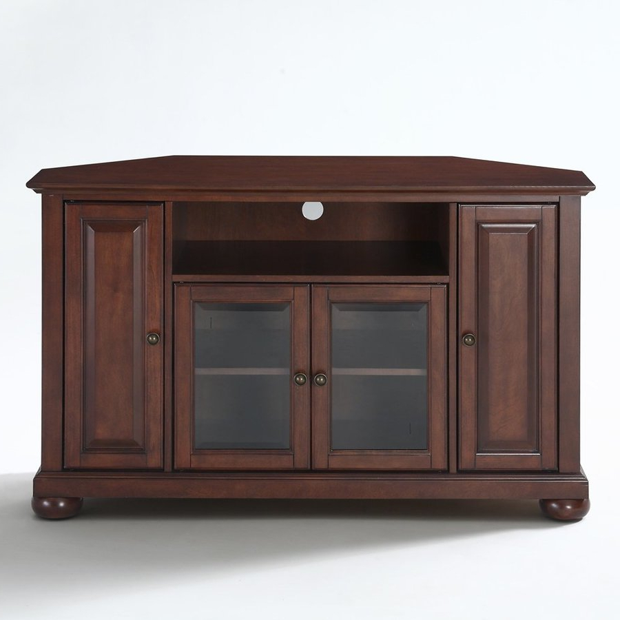 Preferred Crosley Furniture Alexandria Vintage Mahogany Corner Tv Stand At With Mahogany Corner Tv Stands (Gallery 1 of 20)