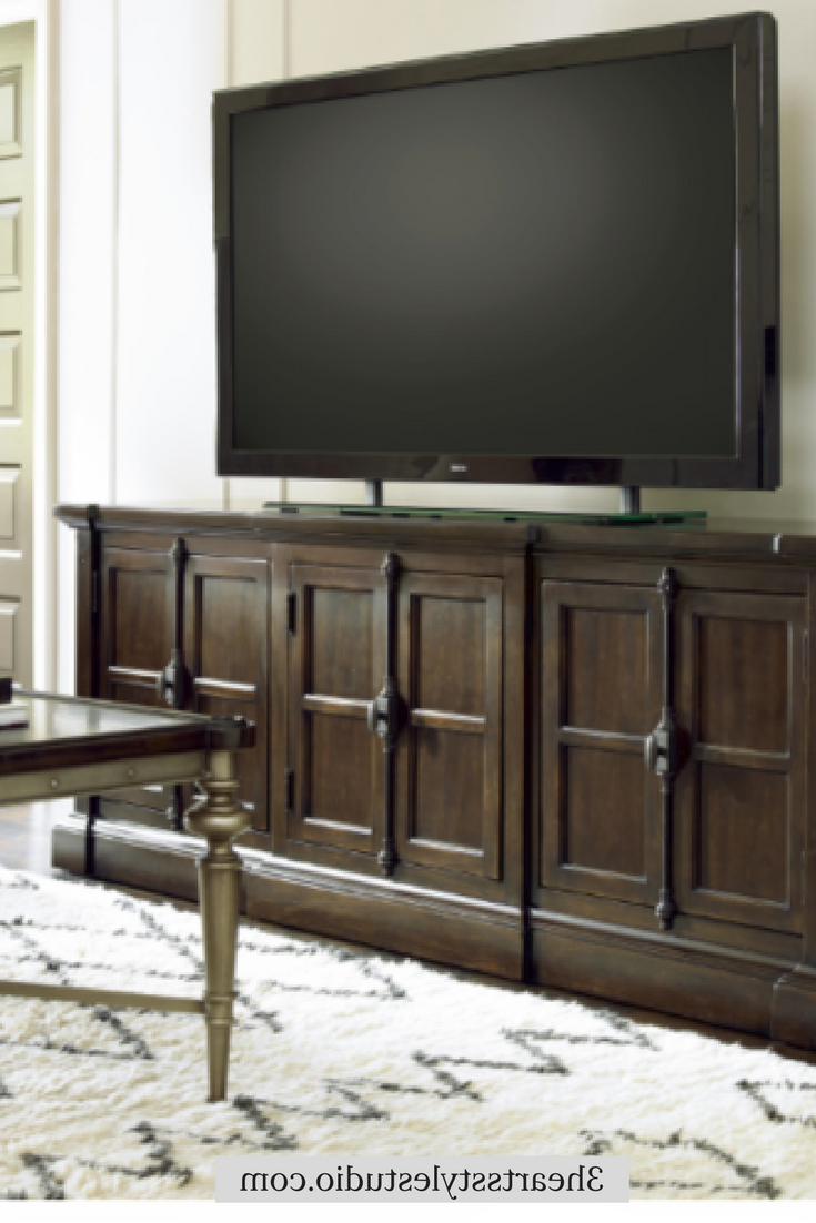 Preferred Denver Tv Stands With French Media Console, Wood Media Console, Farmhouse Furniture (Gallery 13 of 20)