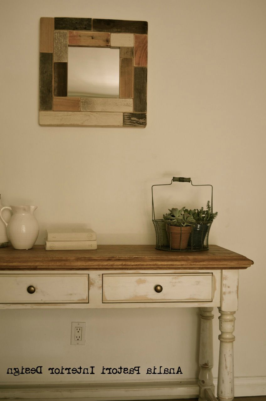 Preferred Farmhouse Console Table. Distressed Antique White (View 13 of 20)