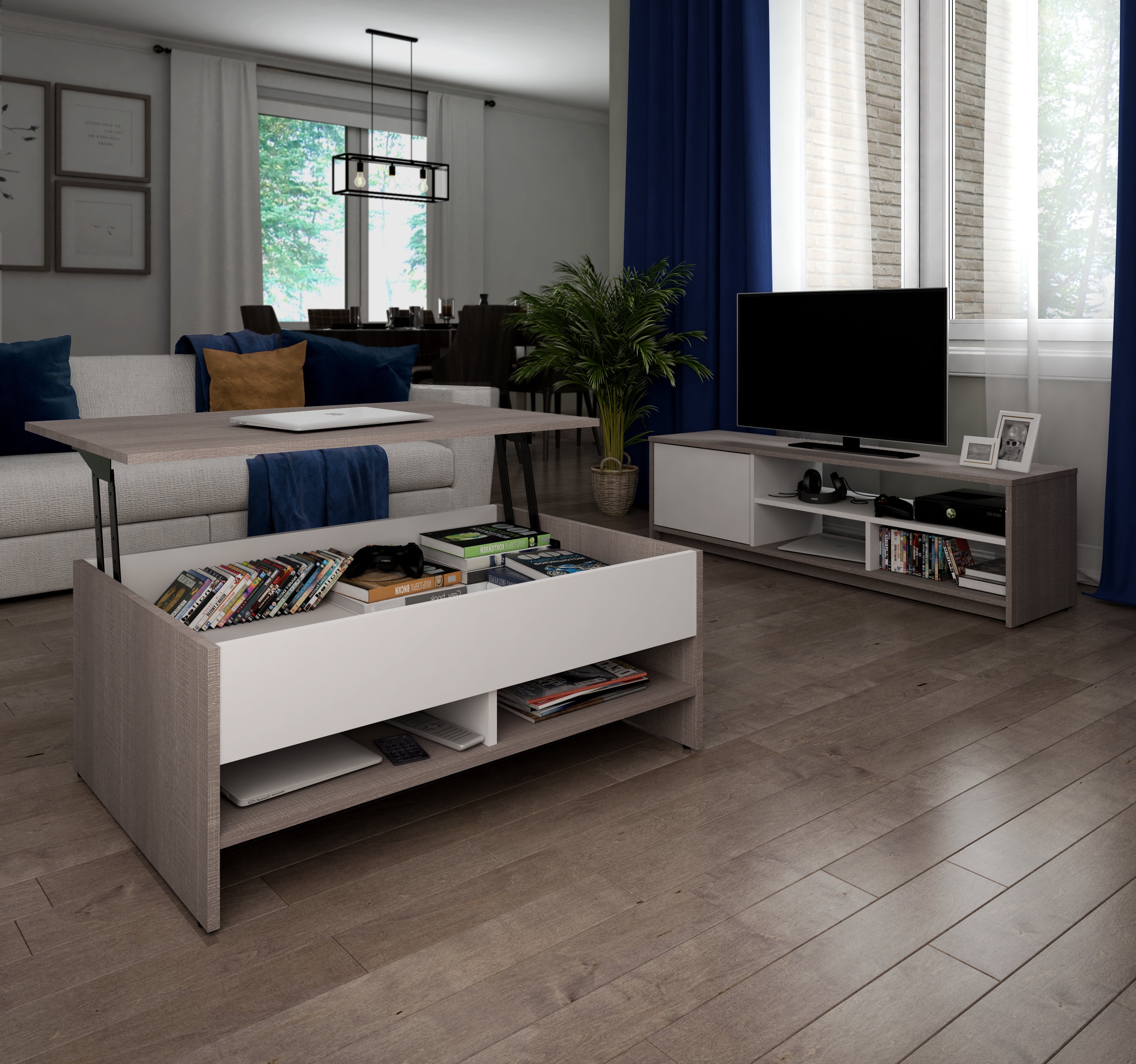 """Preferred Frederick Coffee Table Tv Stand For Tvs Up To 50"""" Throughout Tv Stand Coffee Table Sets (Gallery 19 of 20)"""