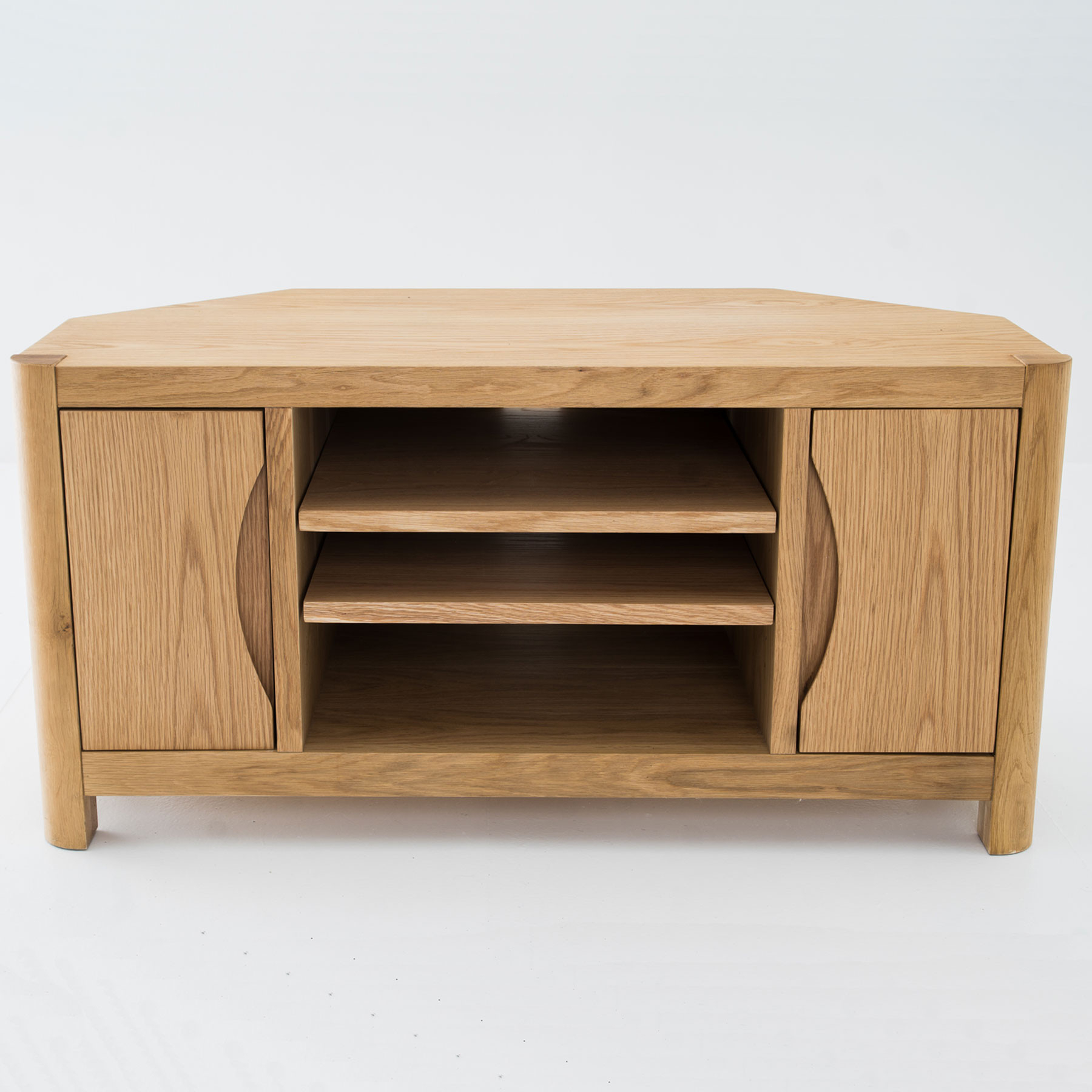 Preferred Golden Oak Tv Stand 55 Inch Corner Cabinet With Doors Tall Within Light Oak Tv Corner Units (View 15 of 20)