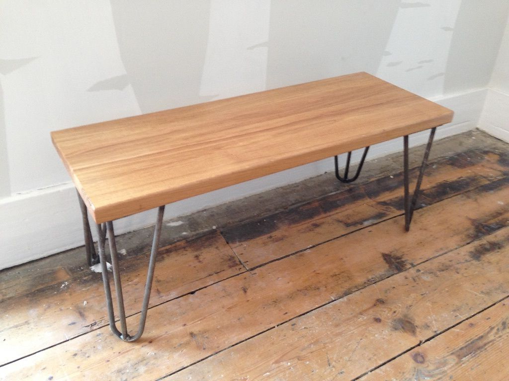 Preferred Hairpin Leg Tv Stands Inside Retro Solid Oak Hairpin Leg Coffee Table Or Tv Stand Reduced £ (View 16 of 20)
