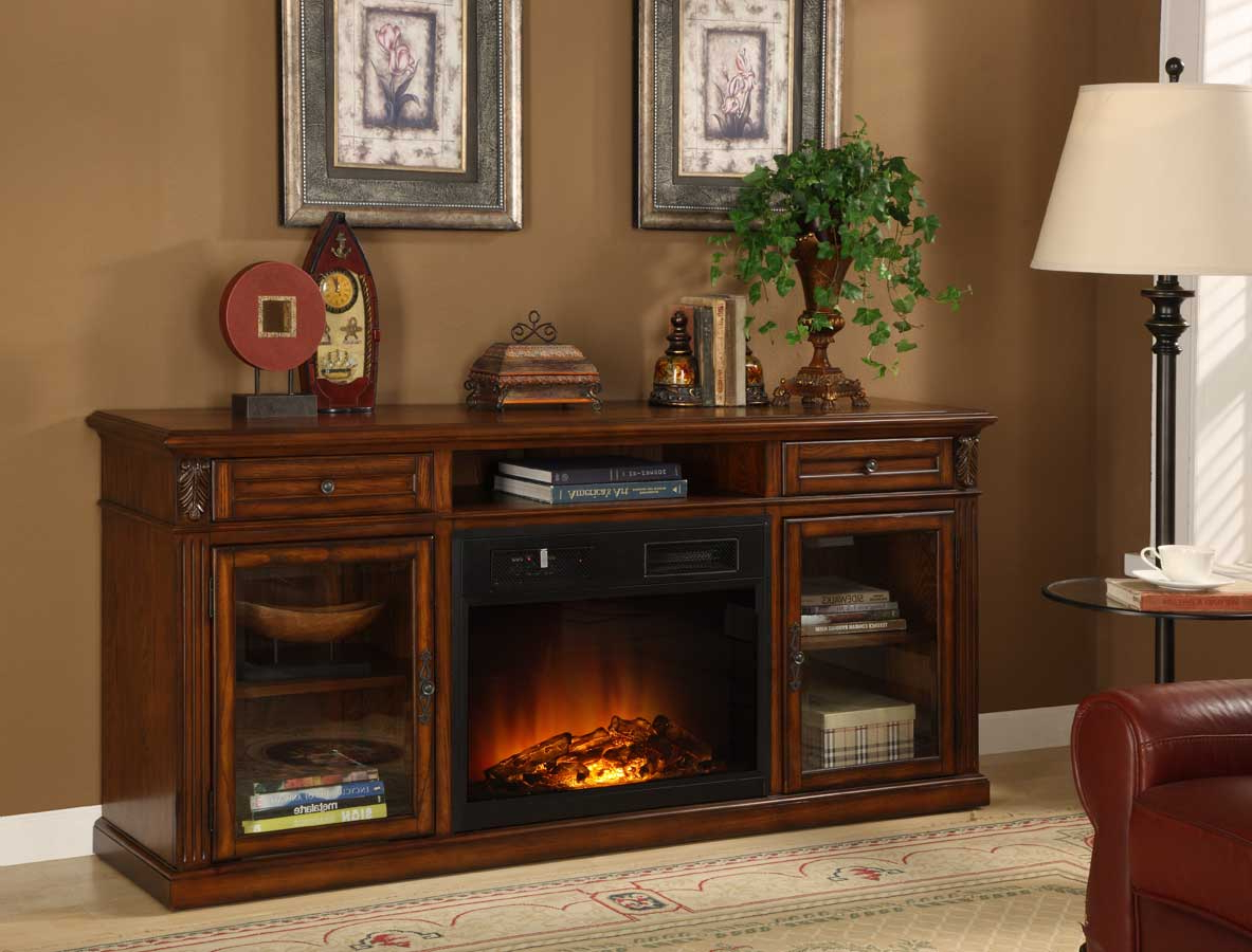 Preferred Homelegance Ruby Red Tv Stand With Electric Fireplace 8106 F102 Throughout Red Tv Cabinets (View 9 of 20)