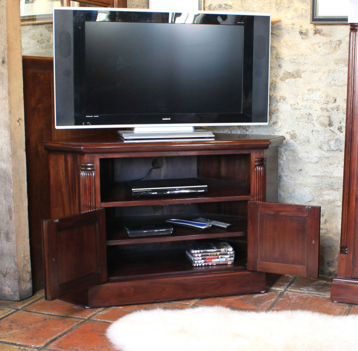 Preferred Mahogany Corner Tv Cabinets Within Mahogany Corner Television Cabinet Was £765.00 Now £ (View 9 of 20)