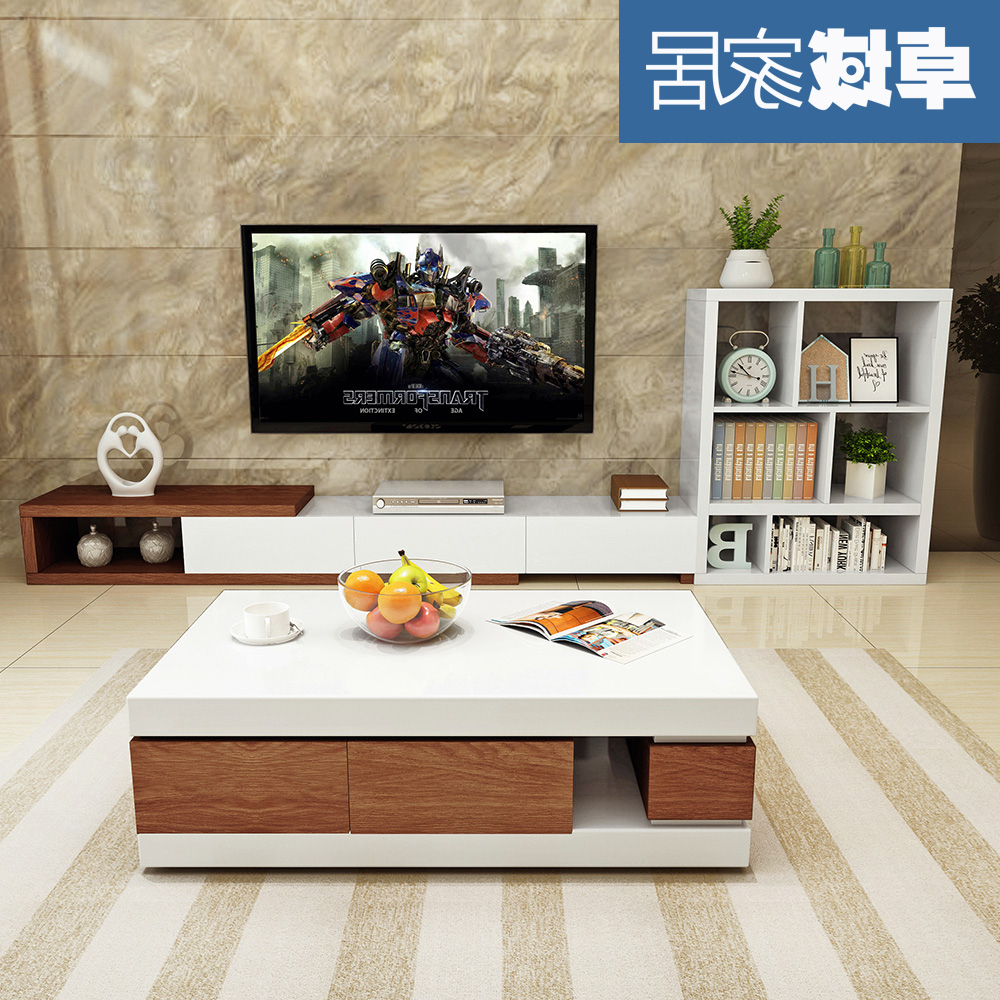 Preferred Modern Simple Coffee Table Tv Cabinet Set Combination Living Room Storage Coffee Table Coffee Table Tv Cabinet Inside Tv Cabinet And Coffee Table Sets (View 15 of 20)