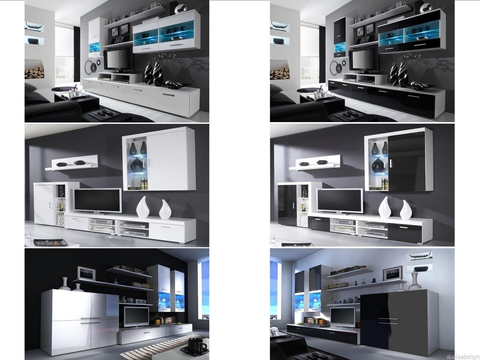 Preferred Modern Tv Units Within Details About Living Room Furniture Set – Modern Tv Cabinet Cupboard Wall  Mounted High Gloss (View 16 of 20)
