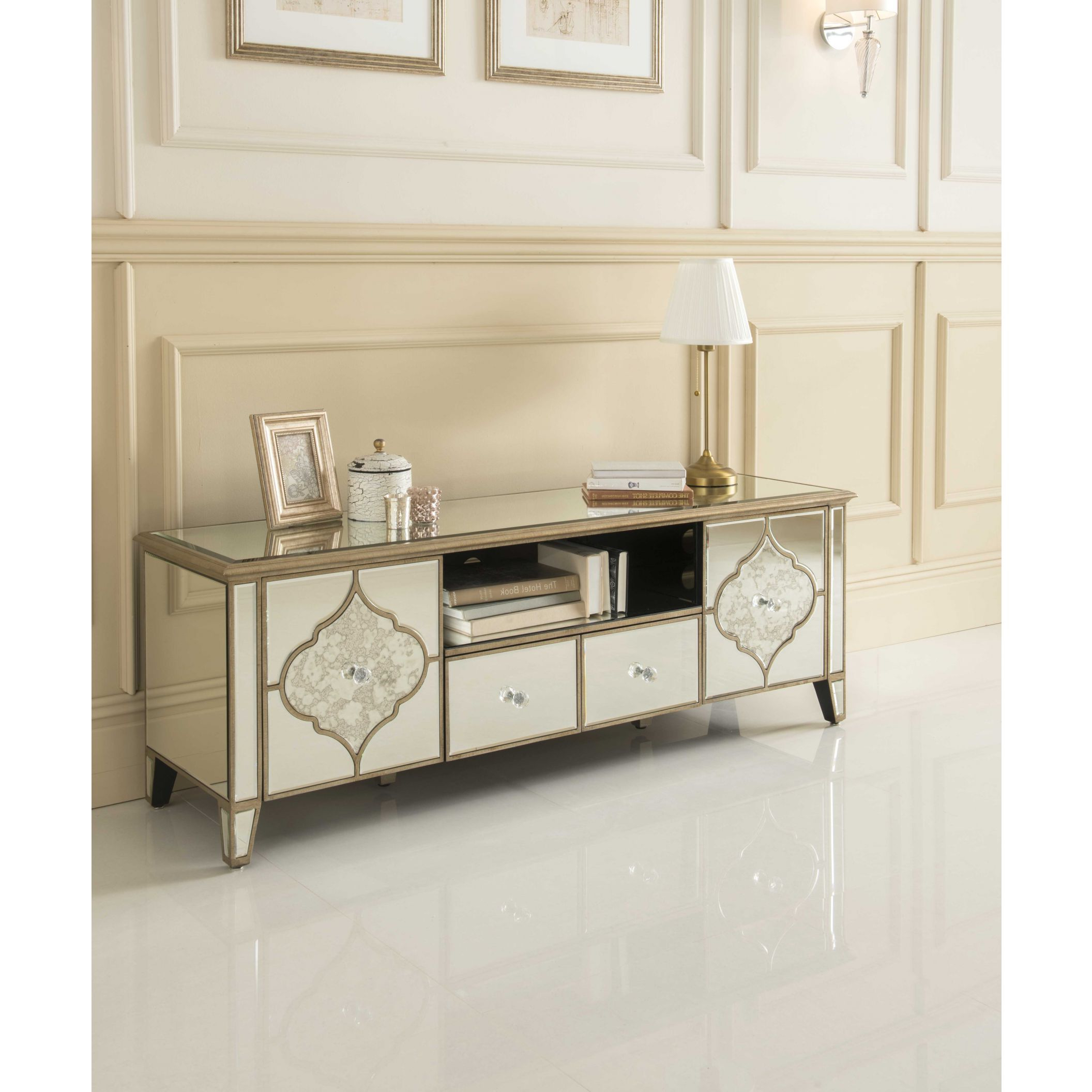 Preferred Sassari Mirrored Tv Cabinet (View 19 of 20)