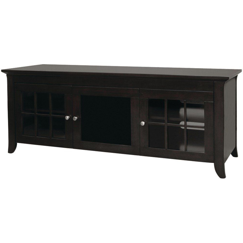 Preferred Small Black Tv Cabinets Pertaining To Techcraft Cre60B 60 Inch Wide Flat Panel Tv Credenza – Black (Gallery 6 of 20)