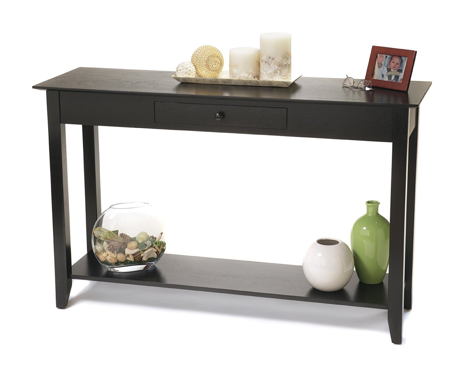 Preferred Sofa Table: Amusing Black Sofa Table Ikea Ideas Ikea White Sofa Pertaining To Parsons White Marble Top & Brass Base 48X16 Console Tables (Gallery 15 of 20)