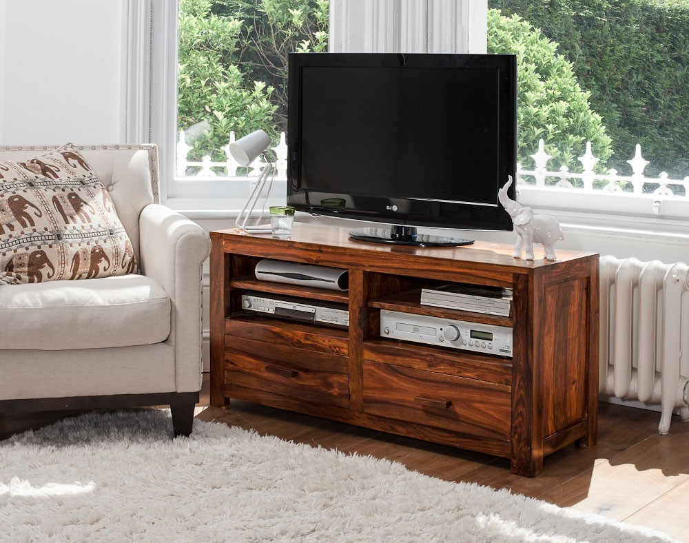 Preferred Solid Wood Tv Console (Gallery 8 of 20)