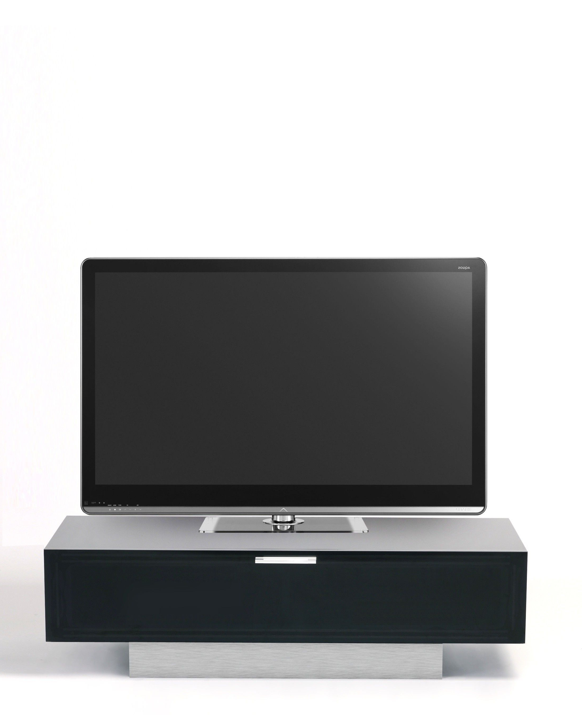Preferred Stil Tv Stands In Stil Stand Black Gloss Tv Cabinet With Alu Plinth Stuk4001  (View 11 of 20)