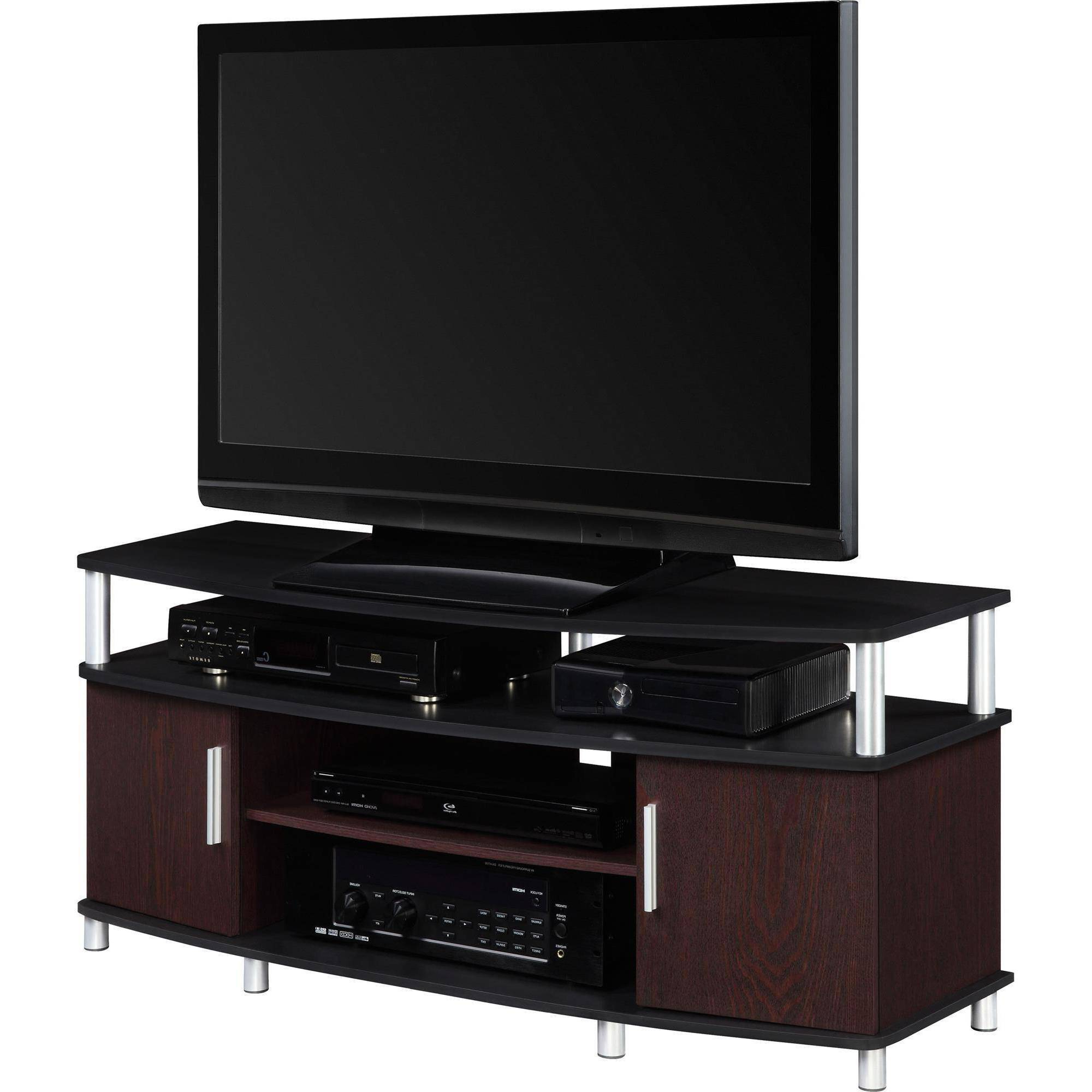 """Preferred Tv Stands Cabinets Pertaining To Carson Tv Stand, For Tvs Up To 50"""", Multiple Finishes – Walmart (Gallery 3 of 20)"""
