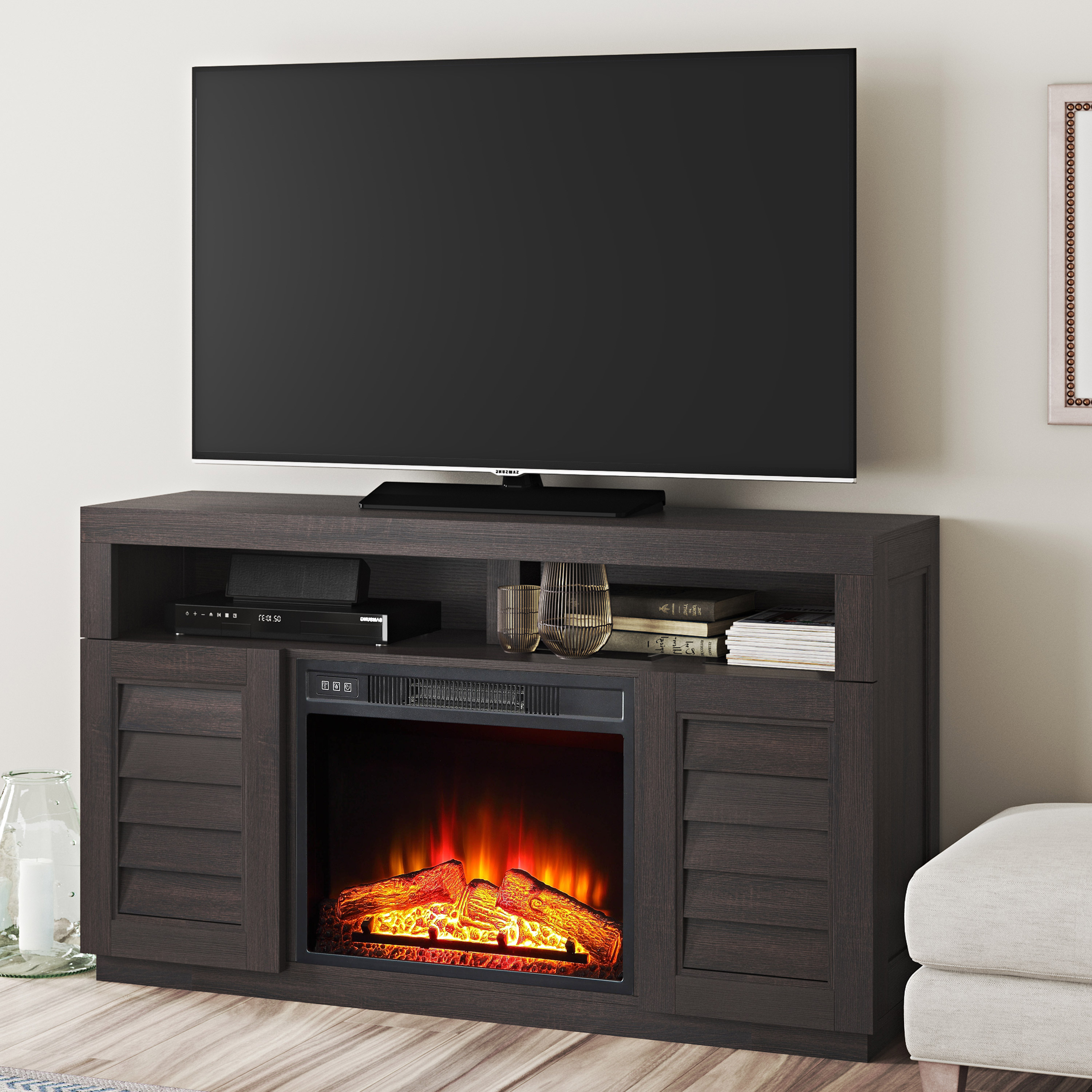 Preferred Tv Stands & Entertainment Centers – Walmart In Enclosed Tv Cabinets For Flat Screens With Doors (Gallery 12 of 20)