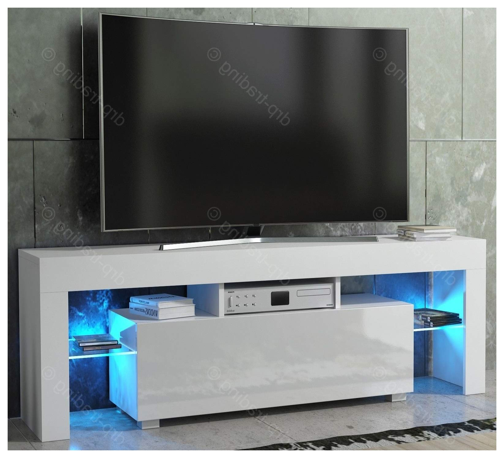 Preferred Tv Stands With Led Lights For High Gloss Bedroom Furniture Ikea Tv Stand Black White With Led (Gallery 6 of 20)