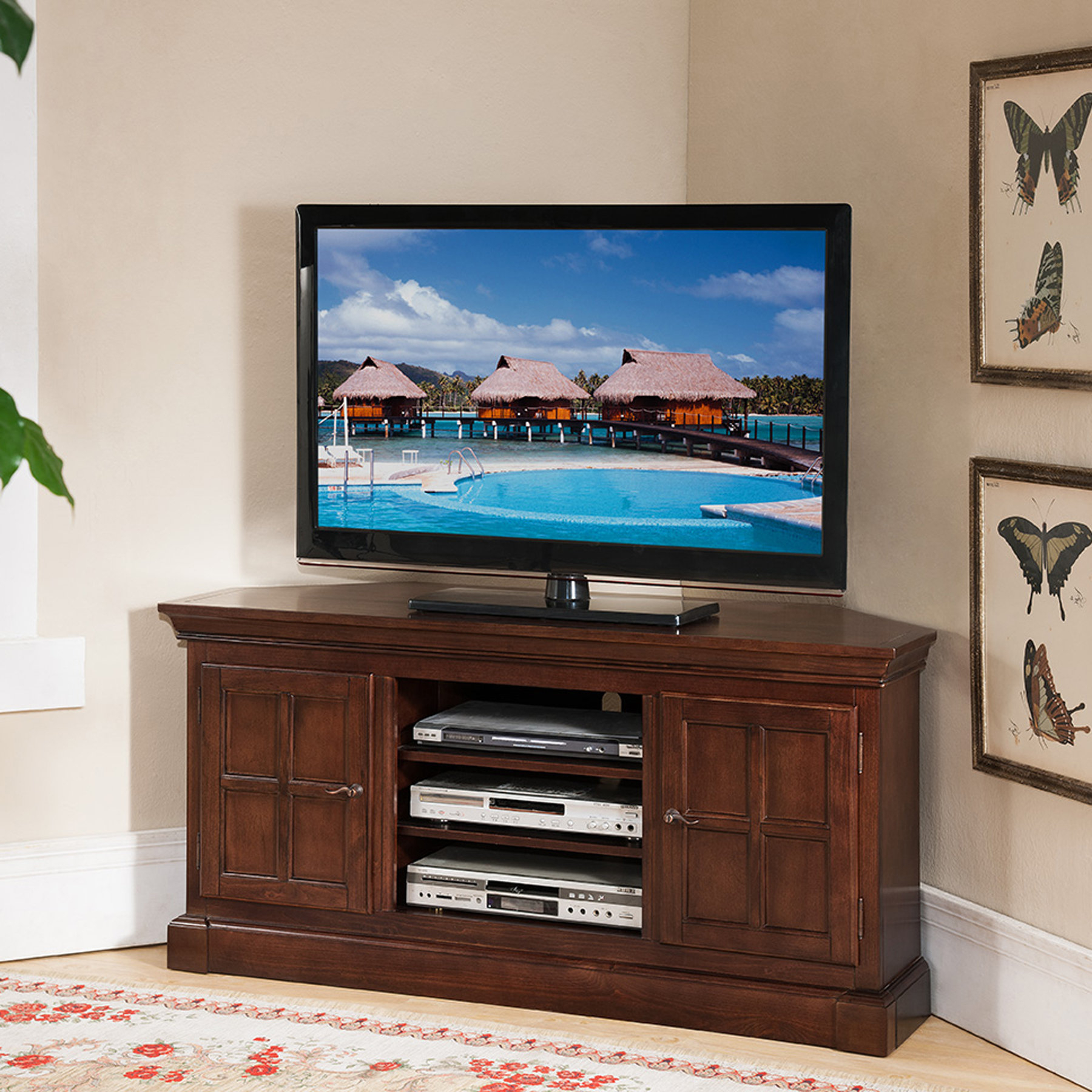 Preferred Upright Tv Stands With Corner Tv Stands You'll Love (View 10 of 20)